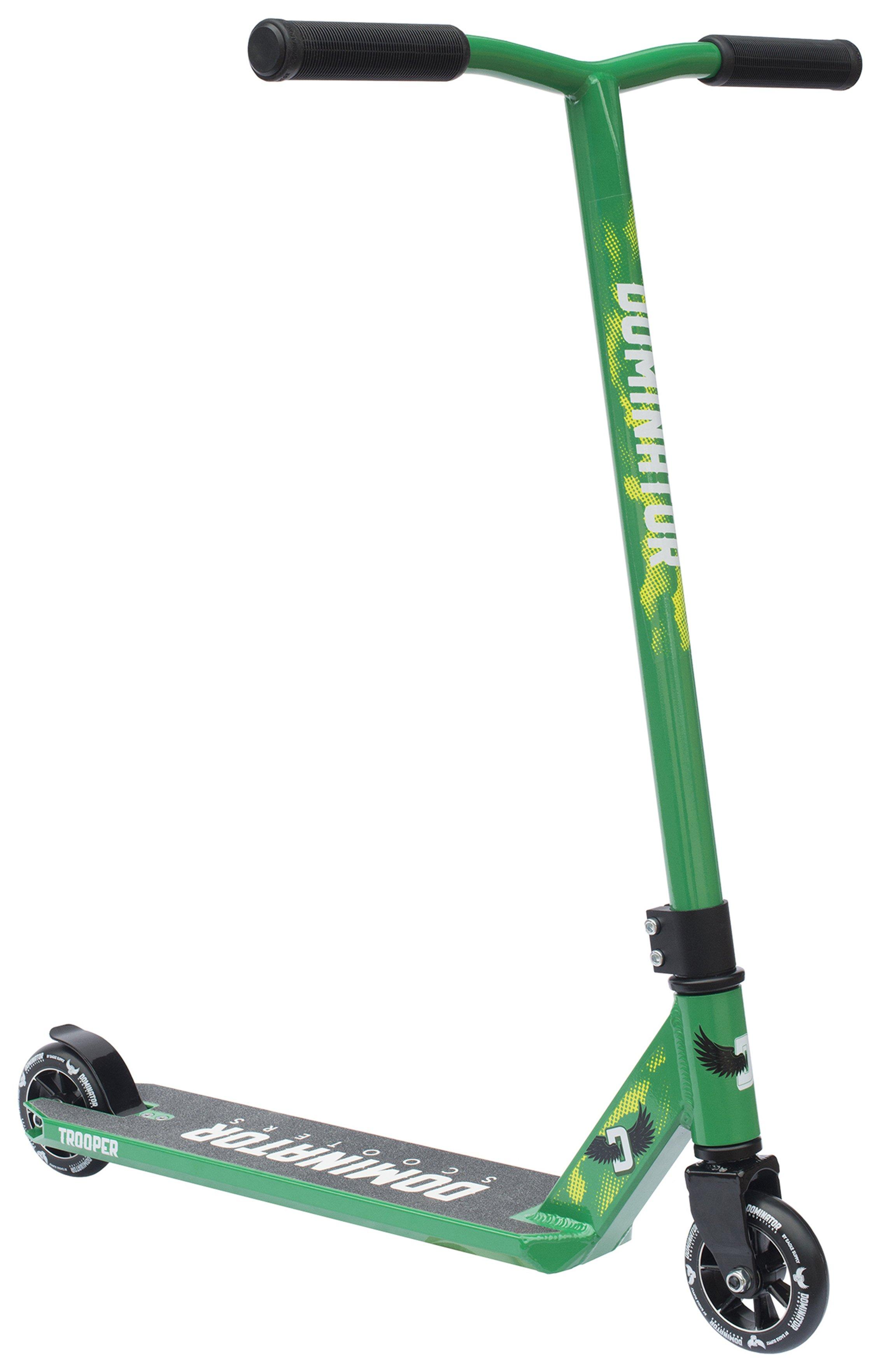 Image of Dominator Trooper Scooter - Green & Black