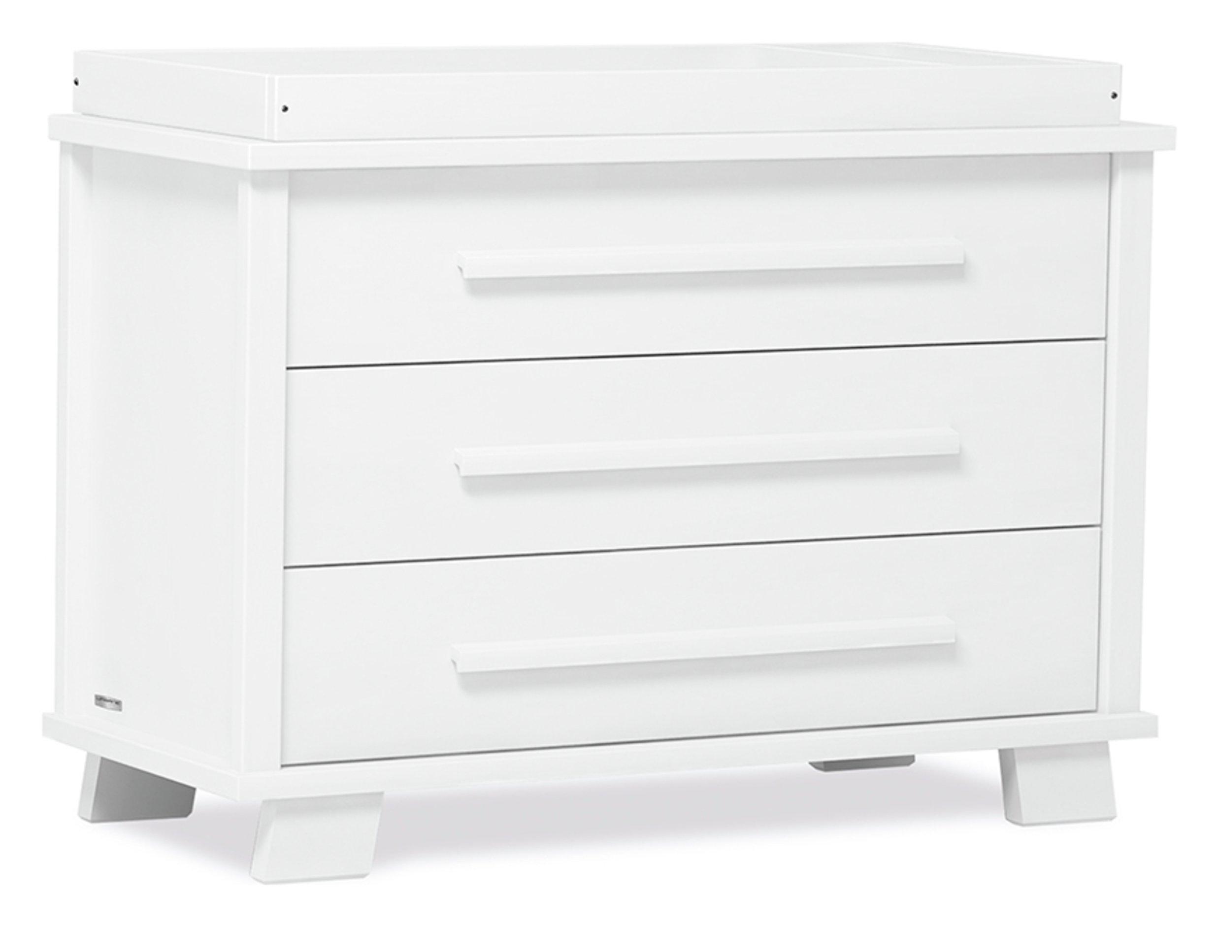 Lucia 3 Drawer Chest - White