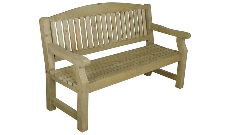 Forest Harvington Wooden 3 Seater Garden Bench