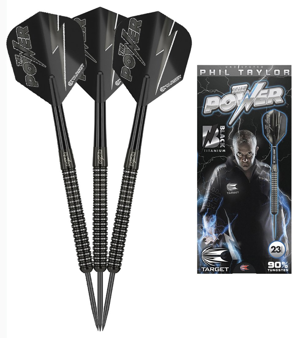Phil Taylor Power 23g 90% Black Edition Tungsten Darts
