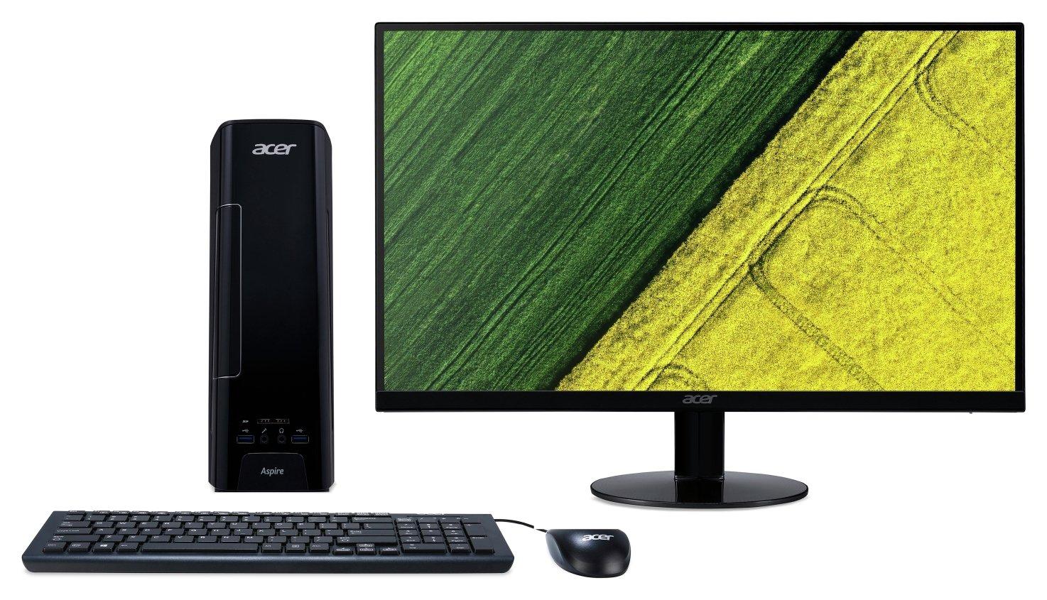 acer tc 710 desktop pc full hd led monitor bundle. Black Bedroom Furniture Sets. Home Design Ideas
