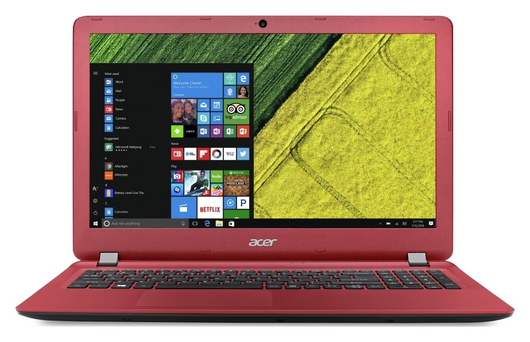 Image of Acer Aspire ES 15.6 Inch AMD E1 4GB 500GB Laptop - Red