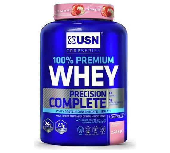 USN 100% Whey Protein Shake Strawberry 2.28kg