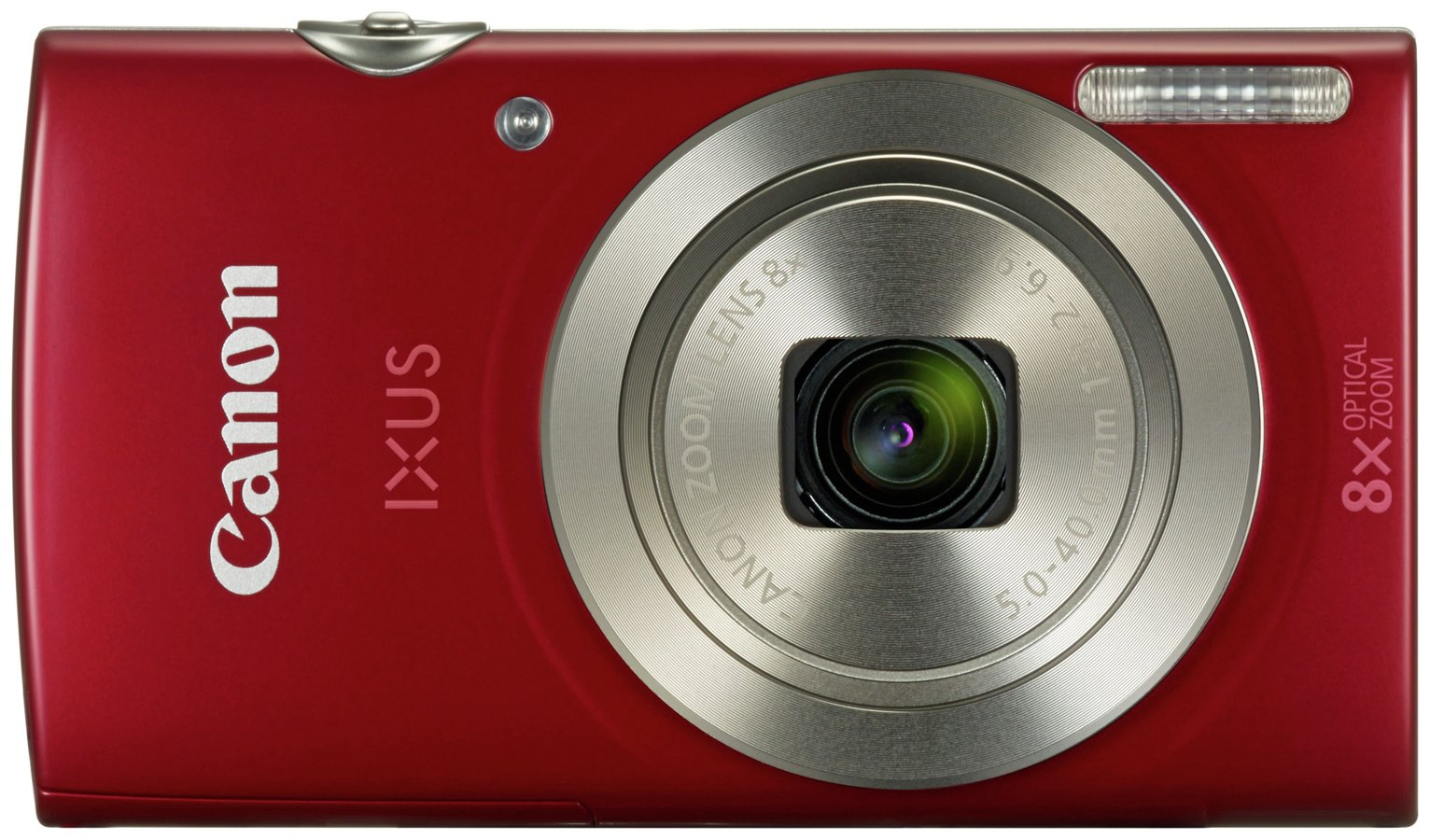 Canon IXUS 185 20MP 8x Zoom Compact Digital Camera Bundle - Red