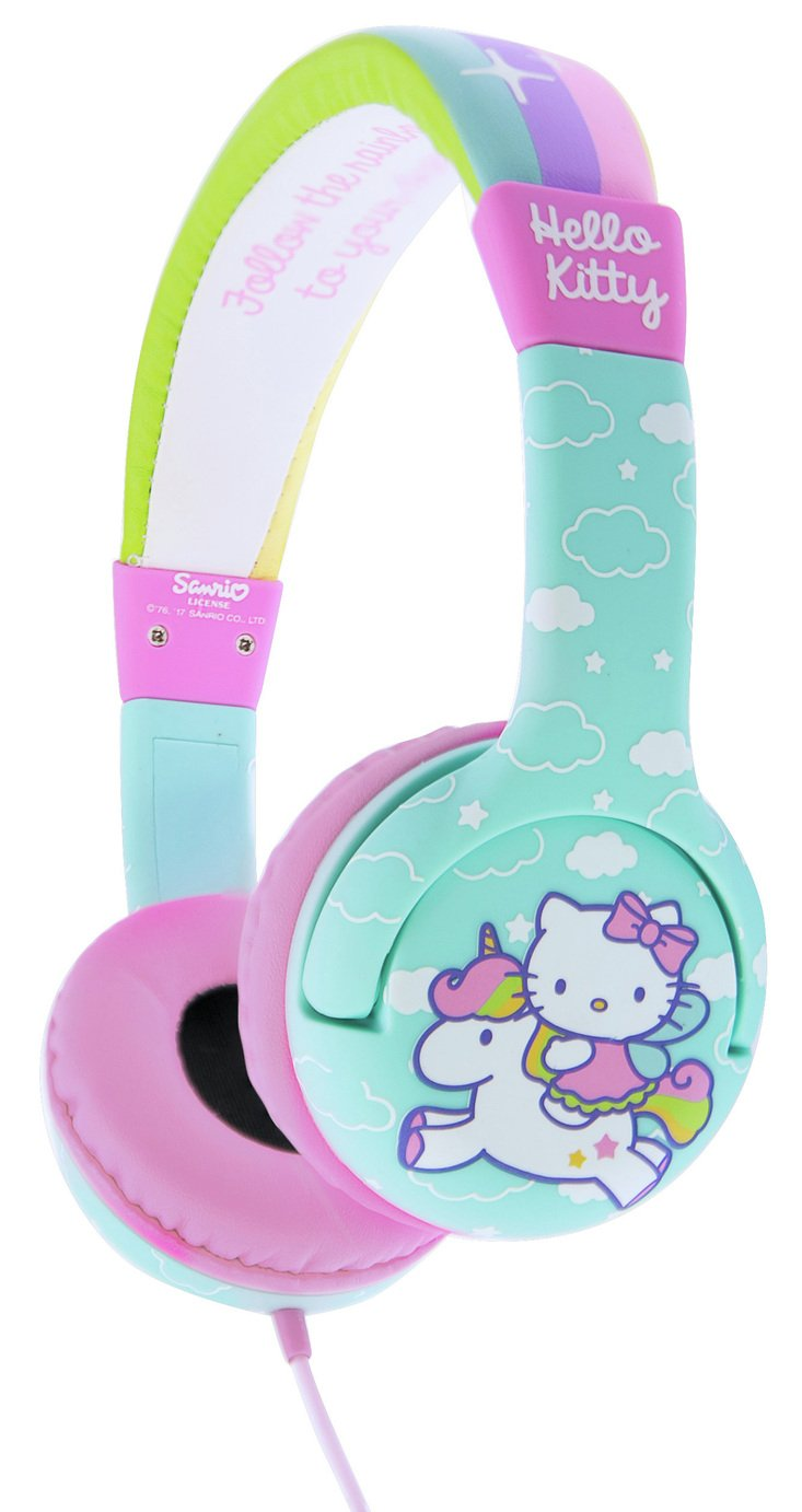 Image of Hello Kitty Kids On-Ear Headphones - Blue / Pink