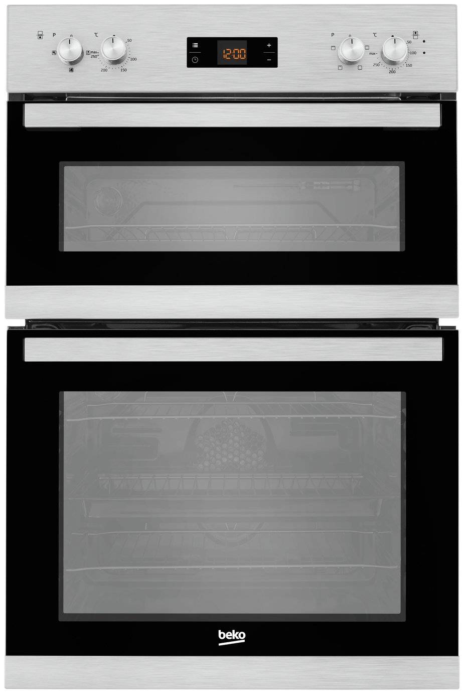 Image of Beko BADF22300X Double Built-In Oven - Steel Installation