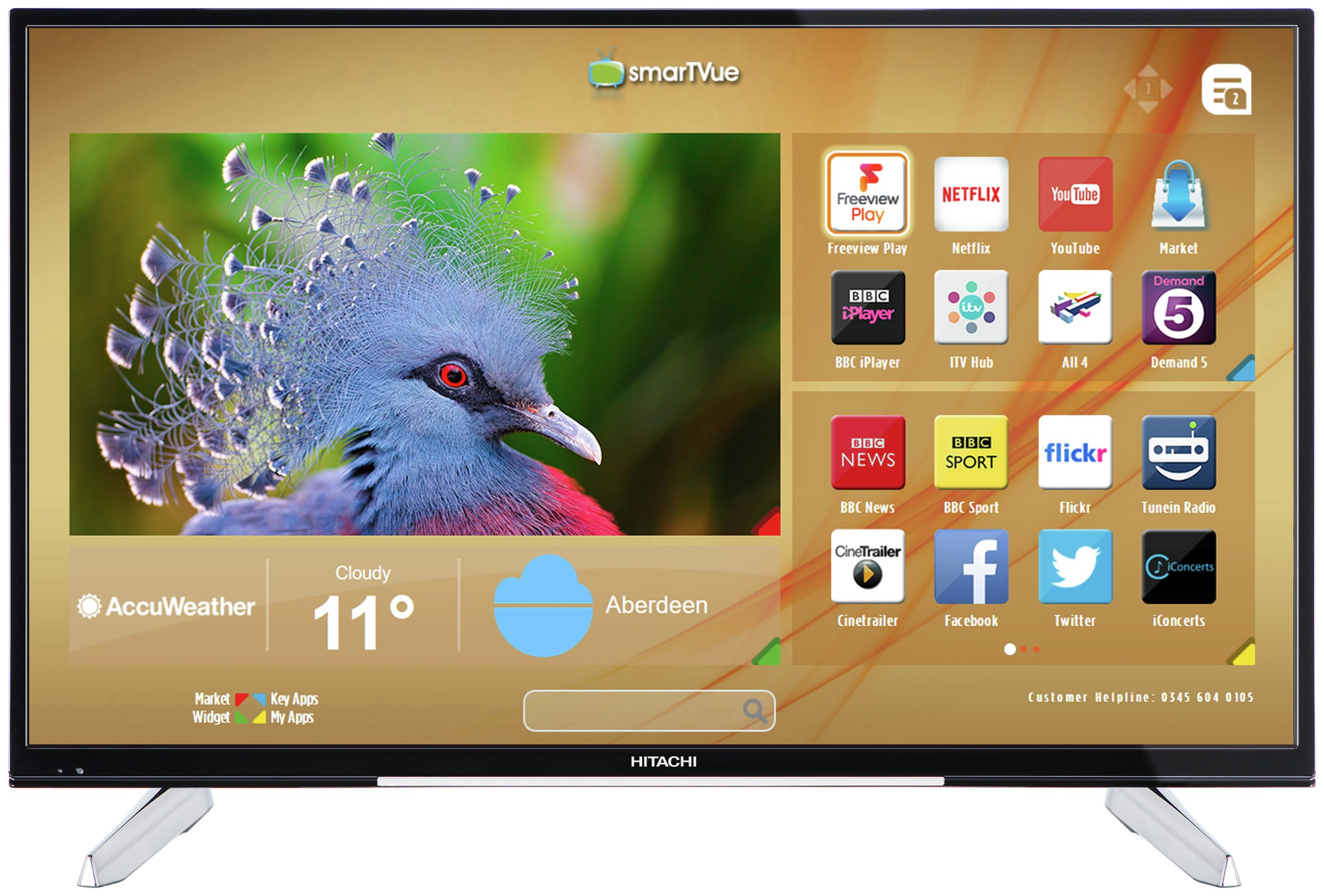 buy hitachi 50hk6t74u 50 inch 4k ultra hd smart tv at argoscouk your online shop for televisions televisions and accessories technology - 50in Tv