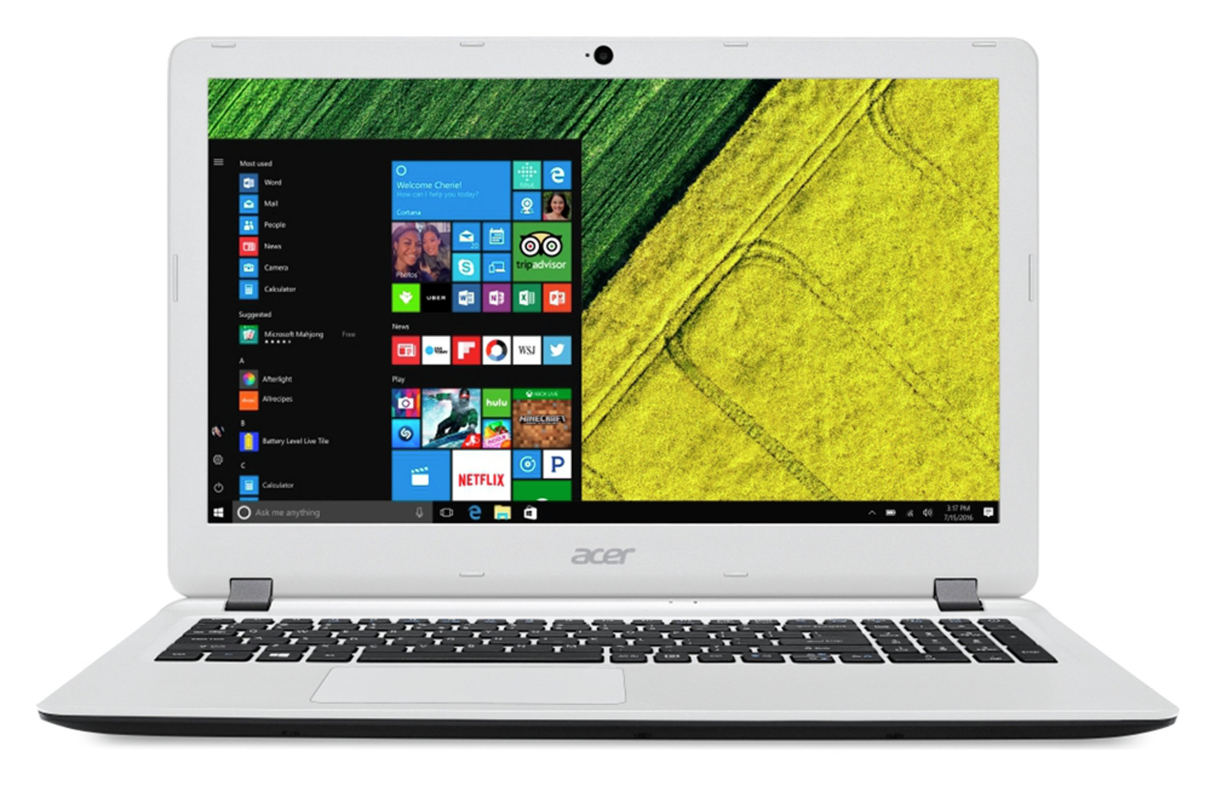 Image of Acer Aspire ES 15.6 Inch AMD E1 4GB 1TB Laptop - White
