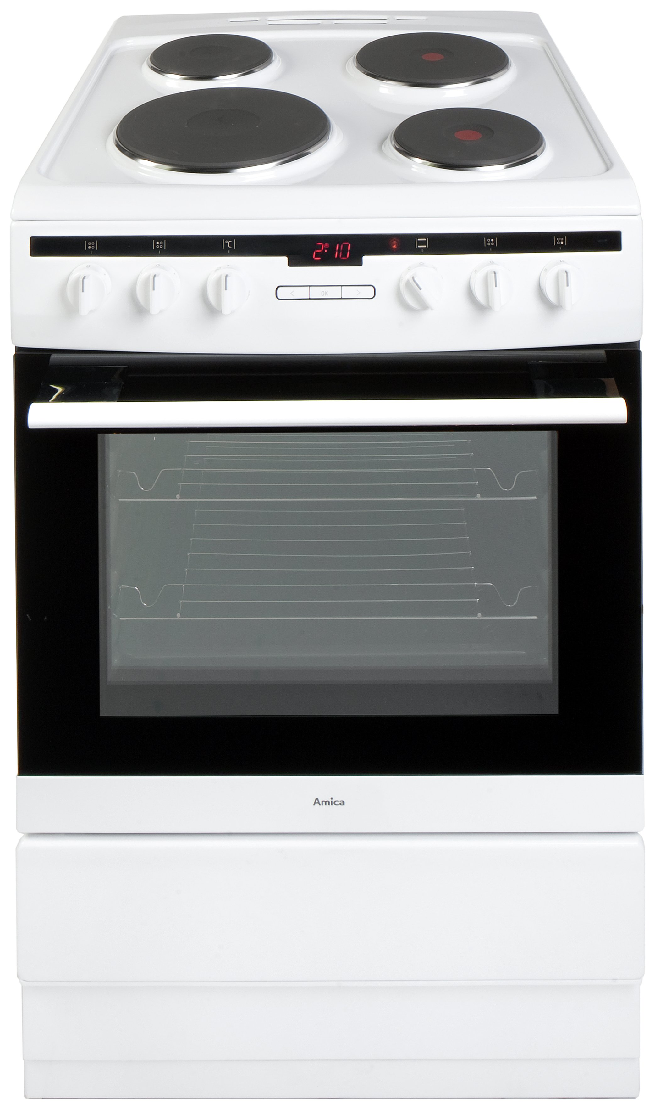 Image of Amica 608EE2TAW Single Electric Cooker - White.