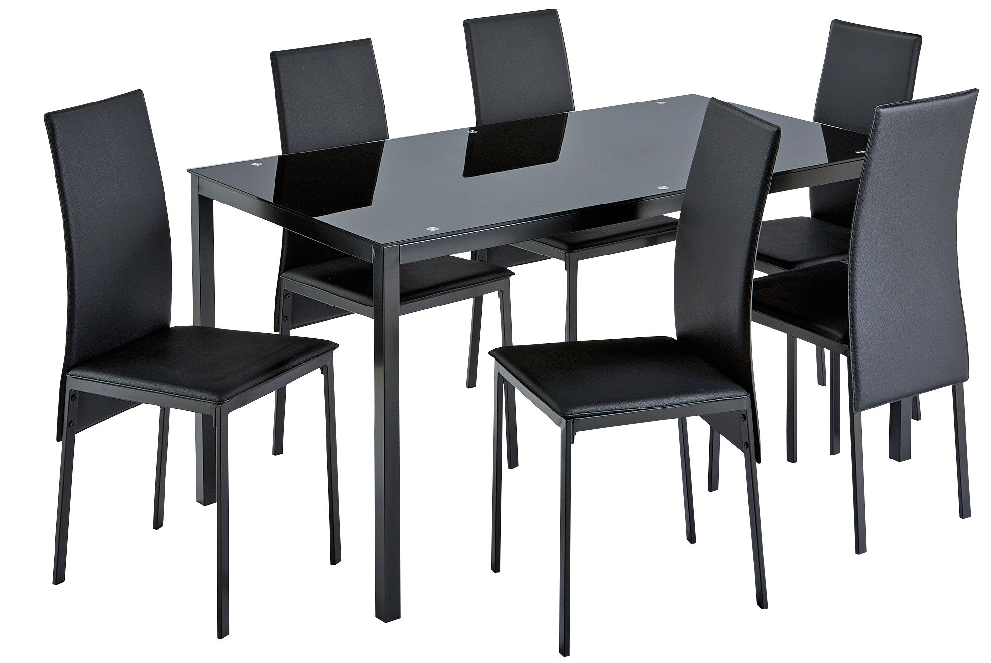 Buy Argos Home Lido Glass Dining Table And 6 Chairs Black Dining