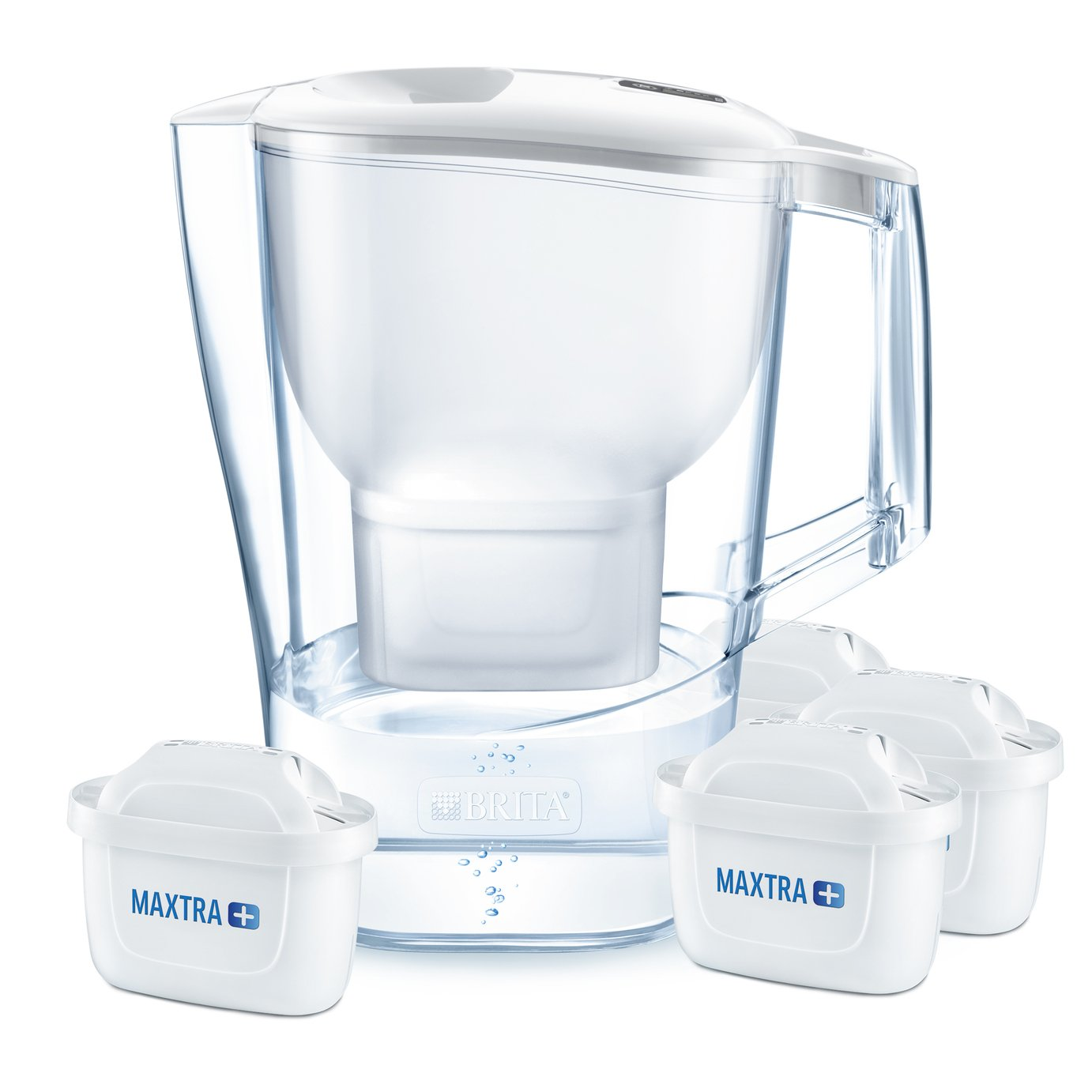 Image of Brita Aluna X-Large Jug with 4 Filter Cartridges - White