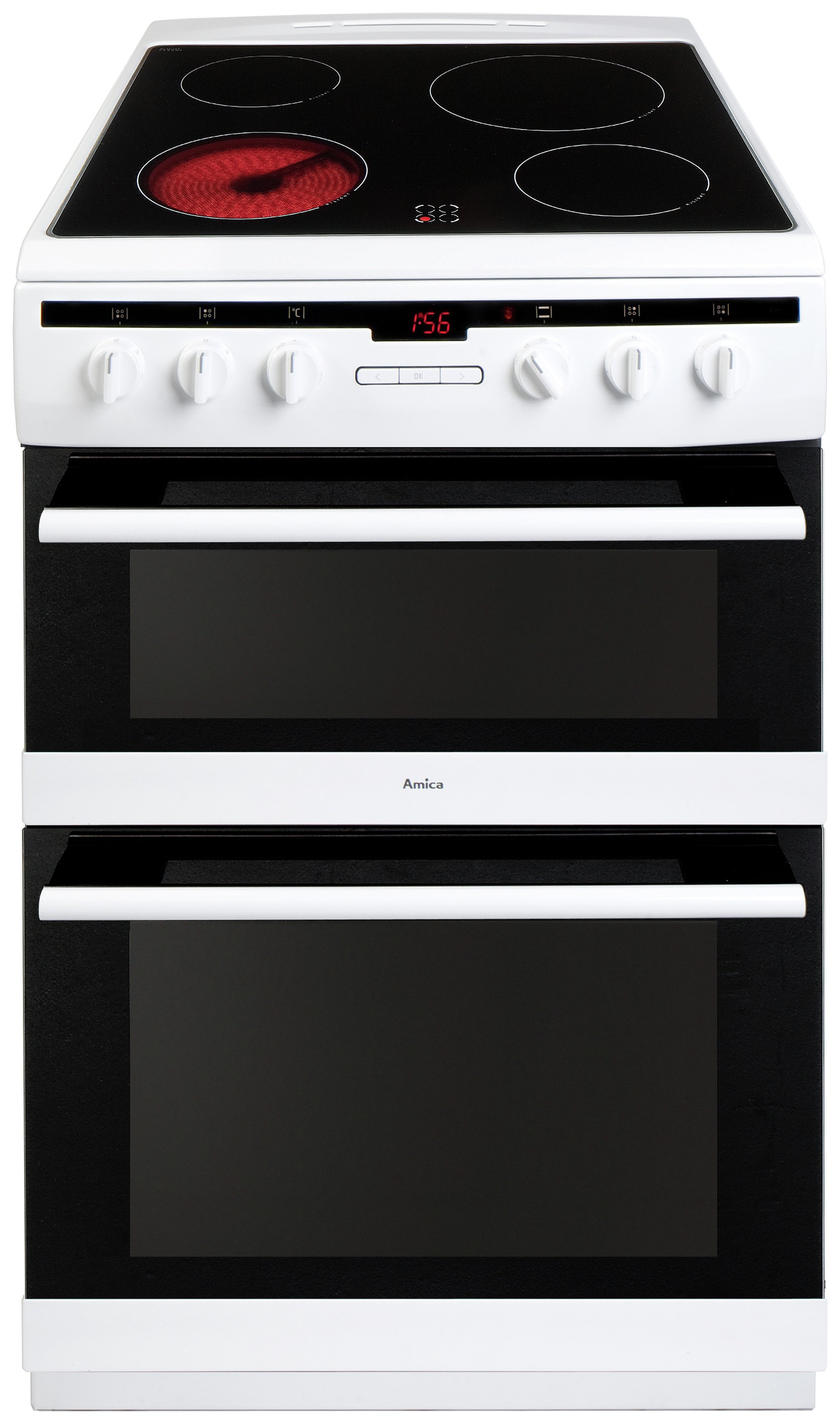 Image of Amica 608DCE2TAW Double Electric Cooker - White.