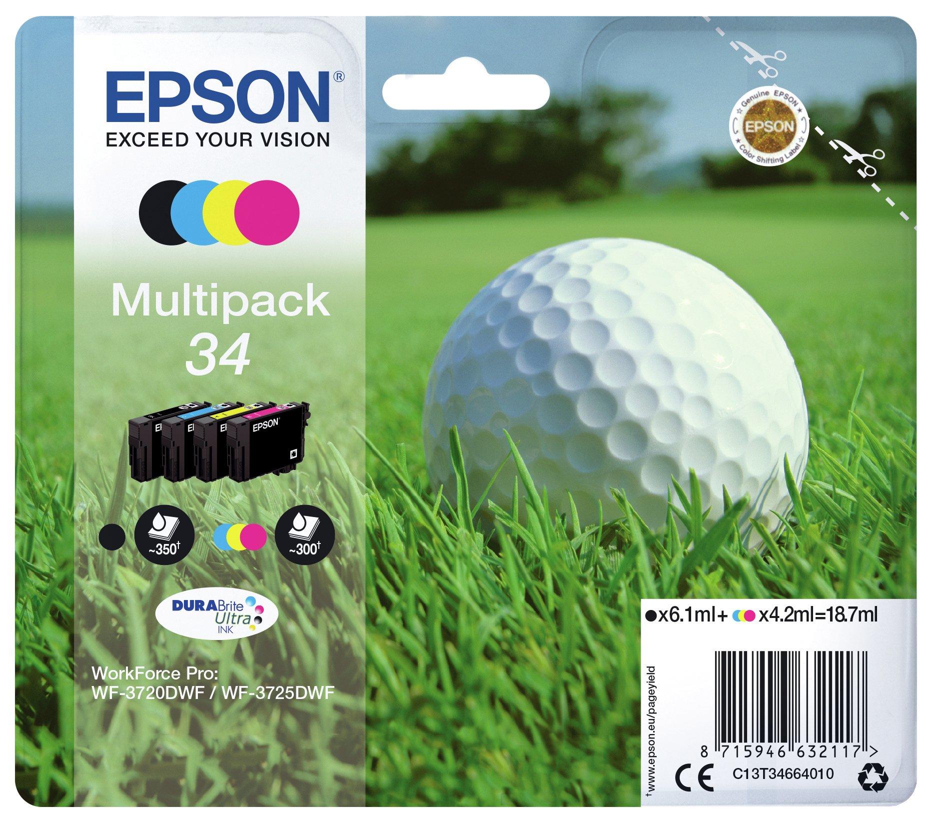 Epson Golf Ball 34 Ink Cartridges - Black & Colour