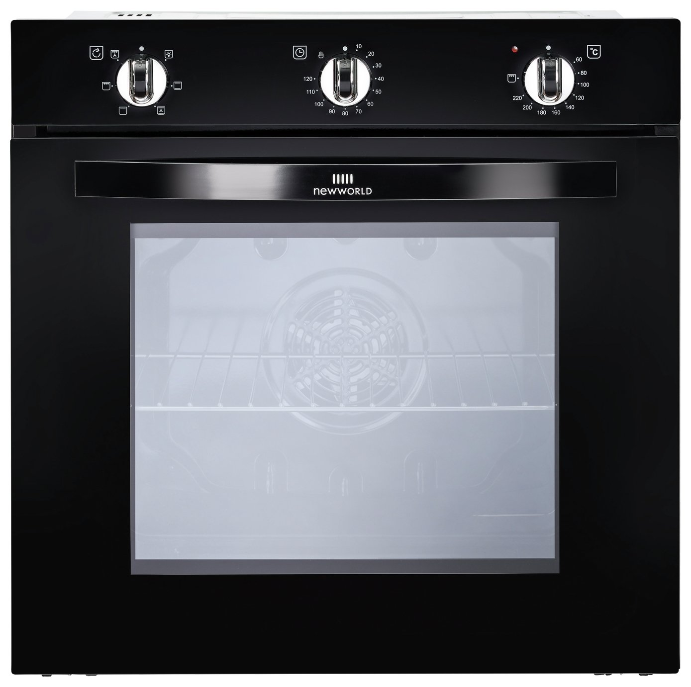 New World NW602F Built-in Single Oven - Black.