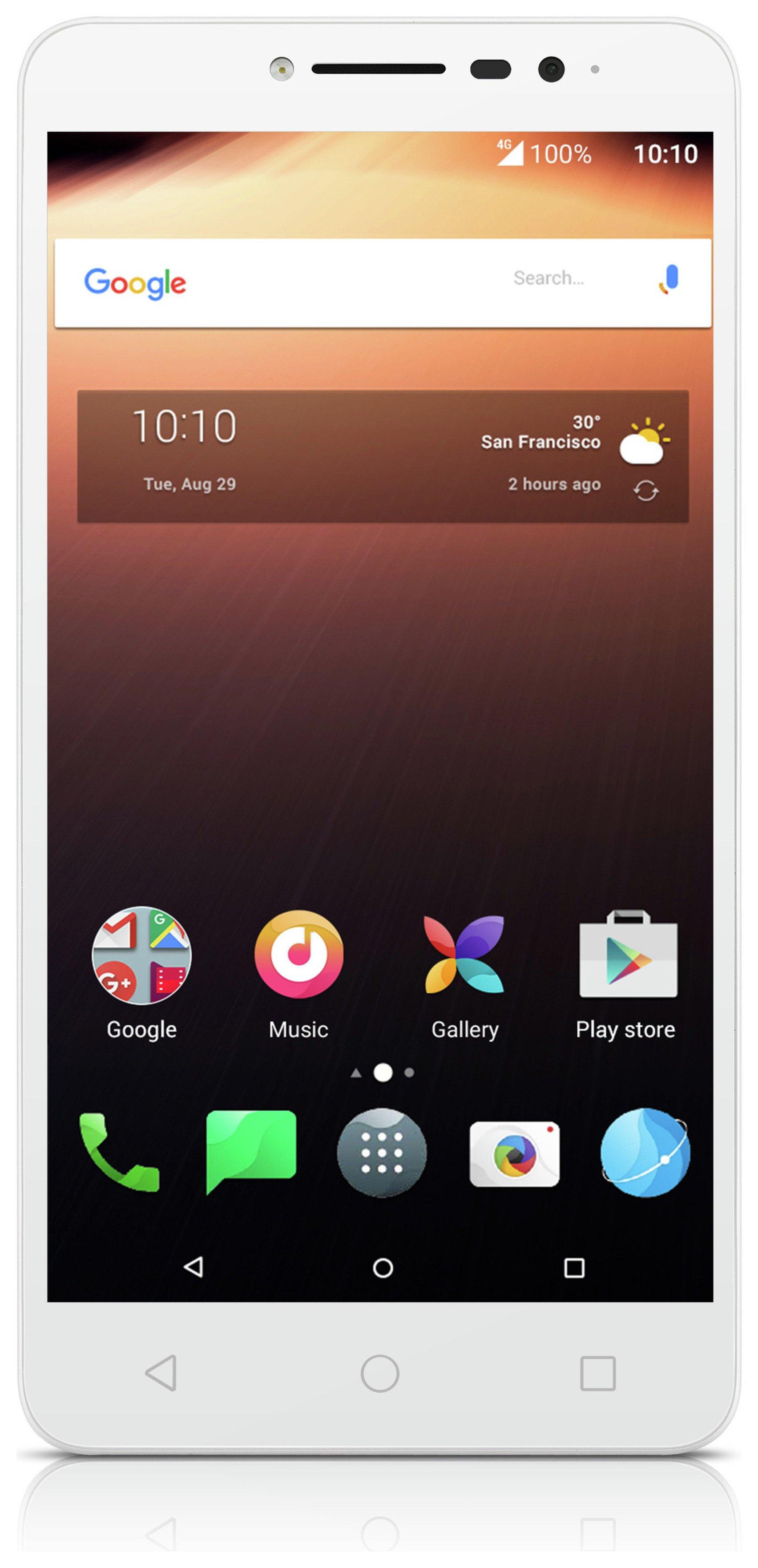 Image of Sim Free Alcatel A3 XL Mobile Phone - White / Silver