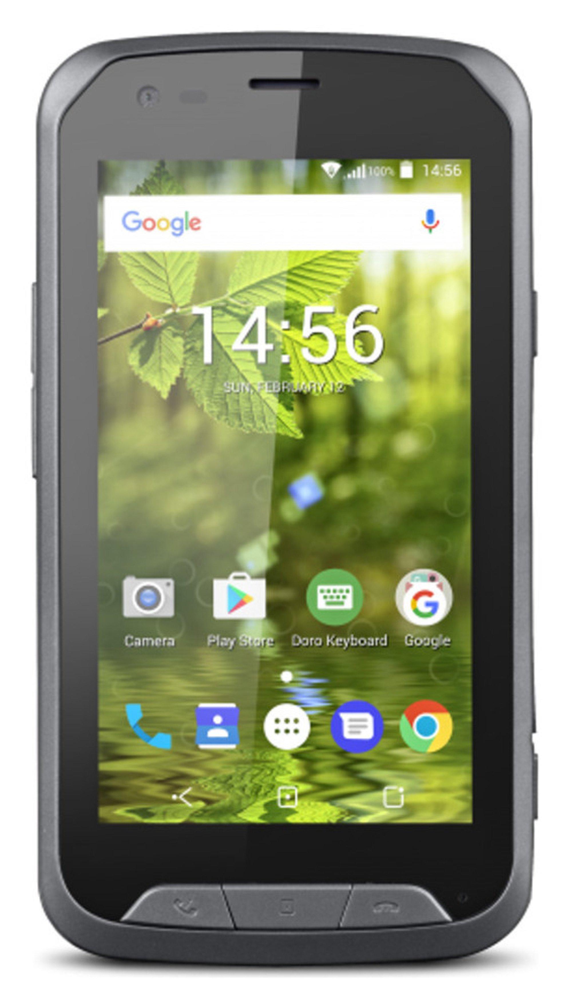 Image of Sim Free Doro 8020X Mobile Phone - Black.