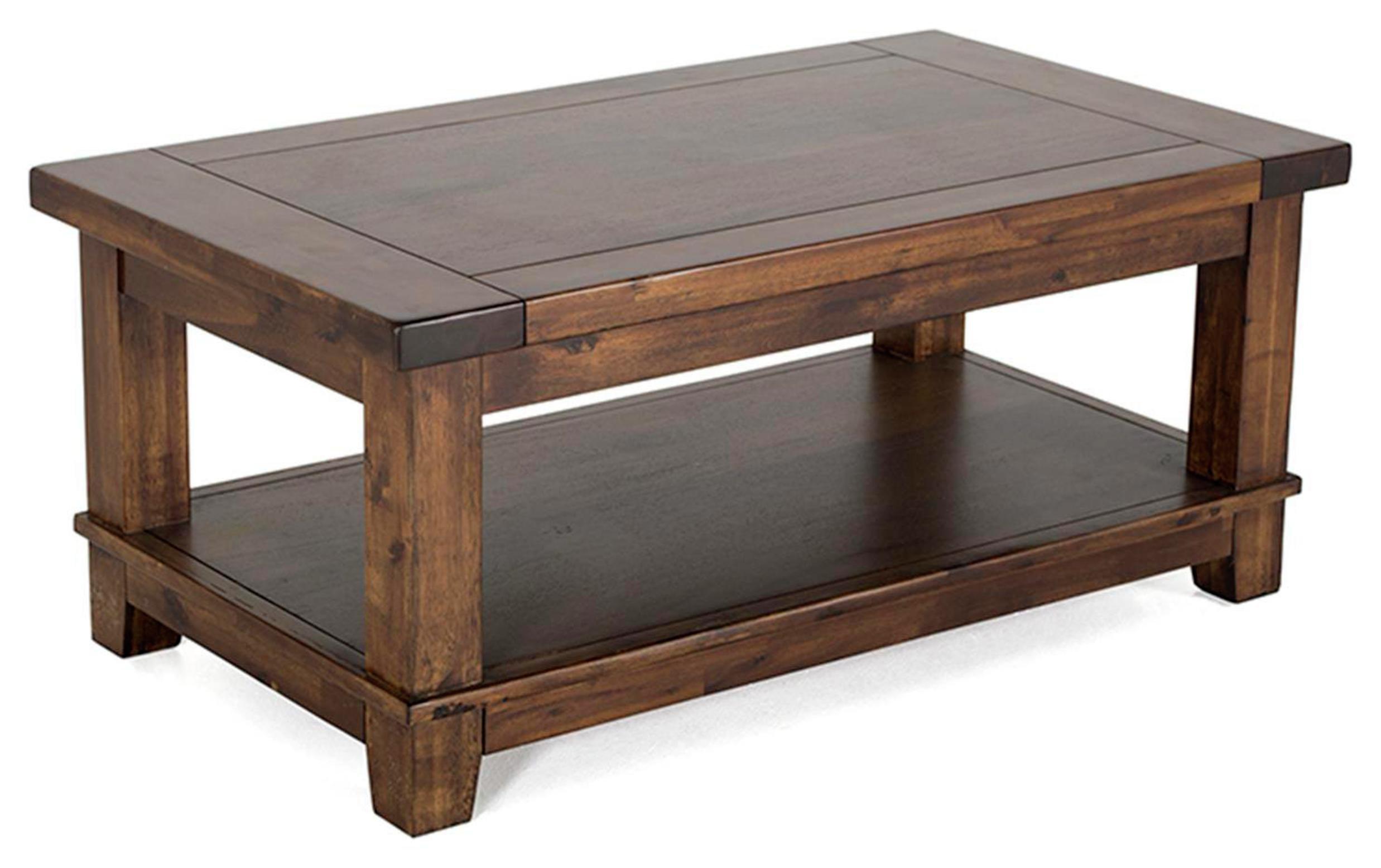 Image of Furnoko Emerson Solid Wood Coffee Table - Walnut