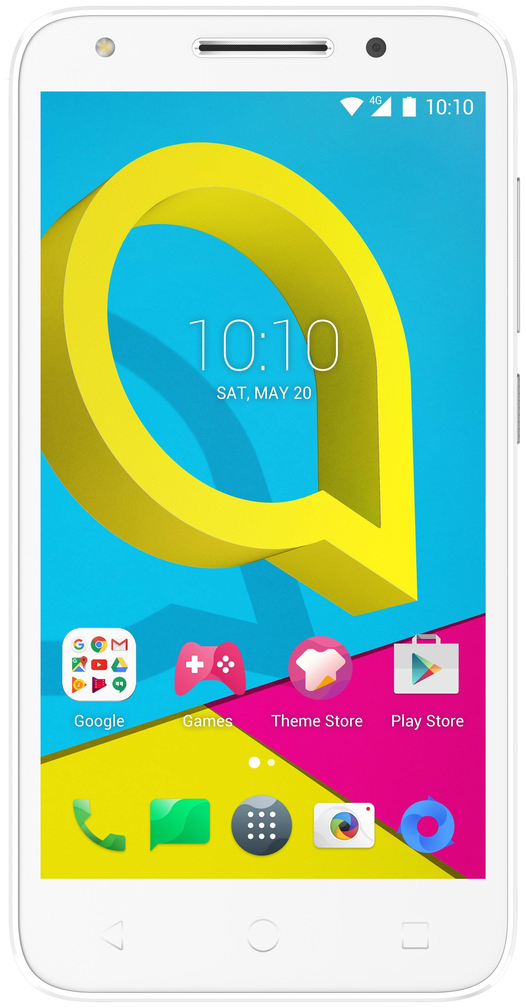 Image of Sim Free Alcatel U5 Mobile Phone - White / Grey.