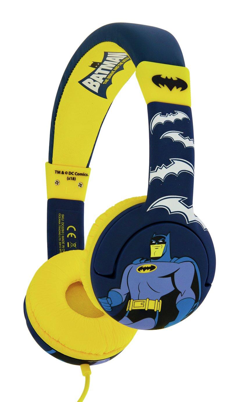 Image of Batman Kids On-Ear Headphones - Yellow / Blue