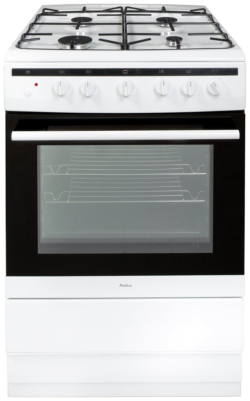 Image of Amica 608GG5MSW Gas Cooker - White