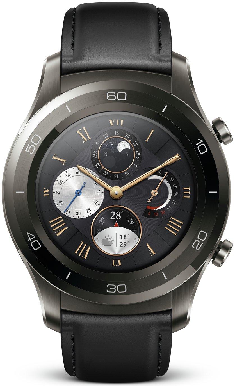 Image of Huawei Watch 2 Classic Smart Watch - Titanium Grey.