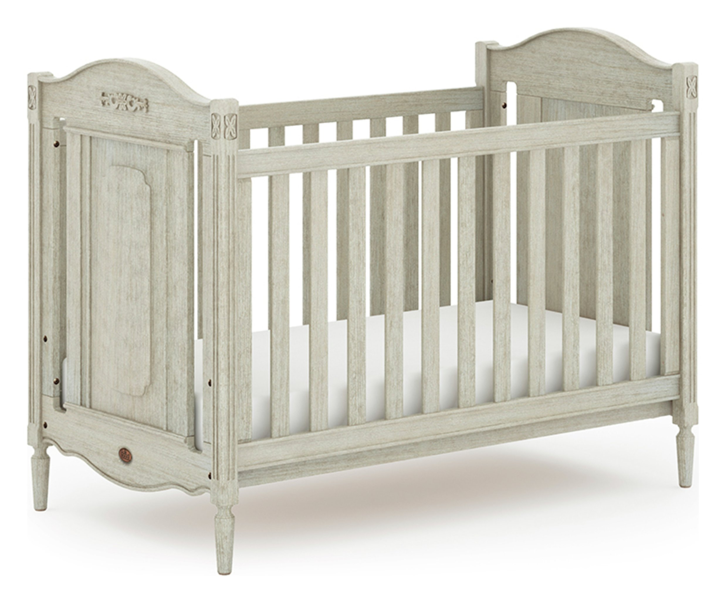 Image of Grace Cot Bed - Antiqued Grey
