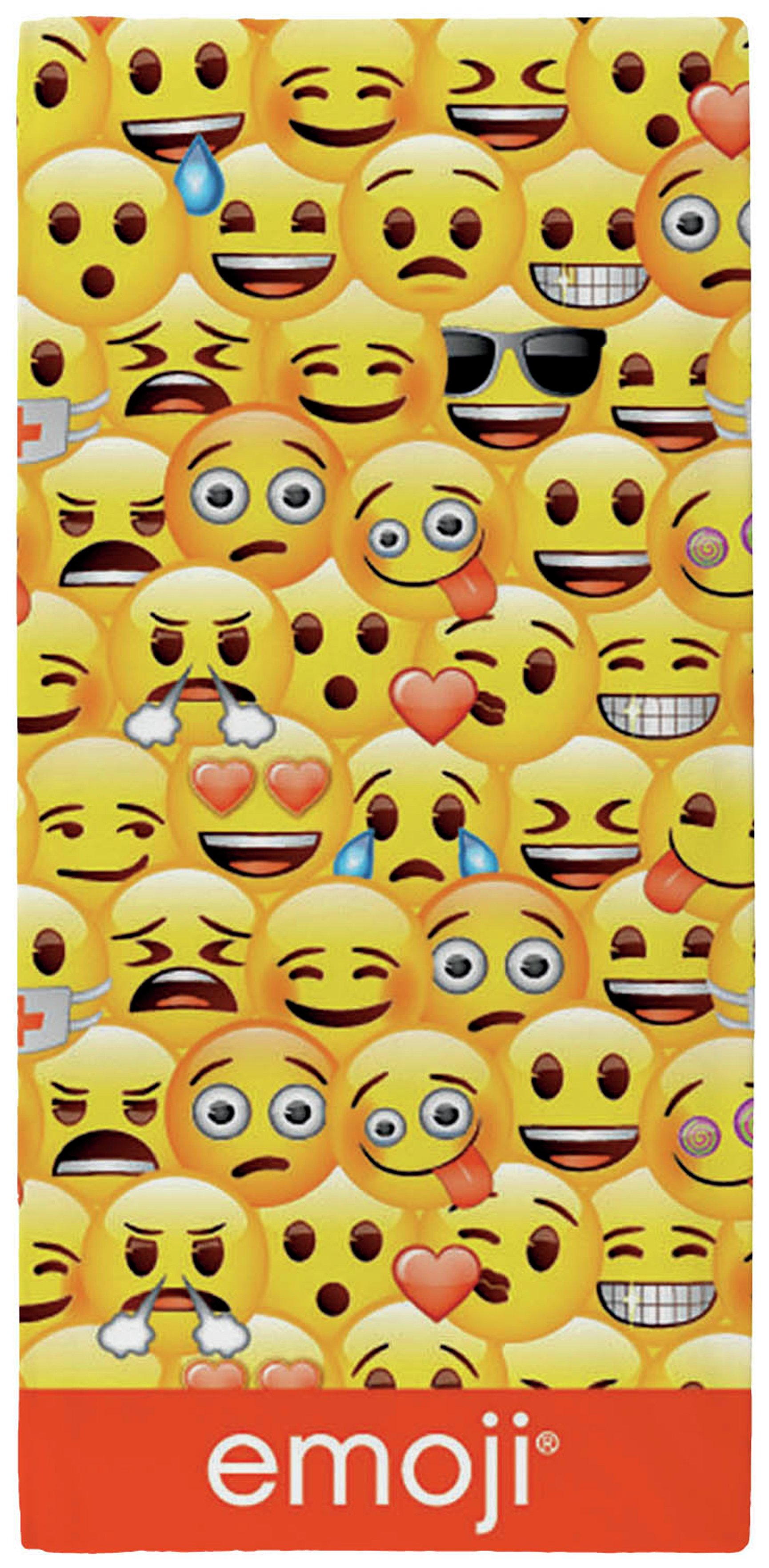 Image of Emoji Faces Towel - Yellow