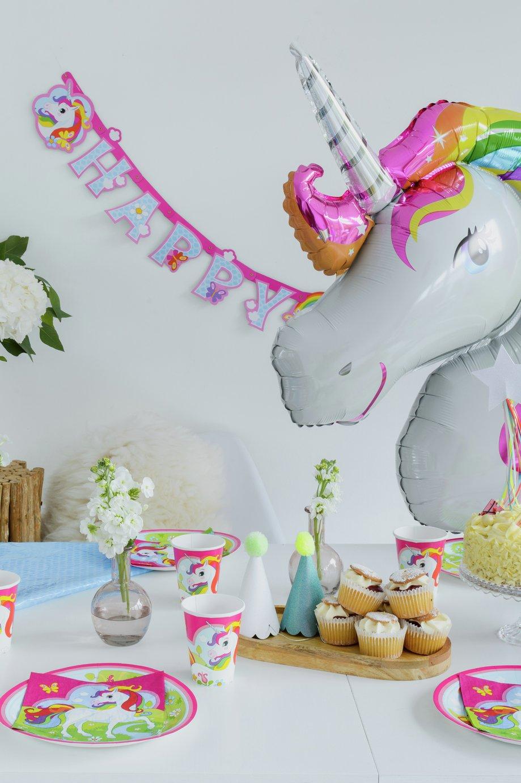 Unicorn Luxury Children Birthday Decoration Set for 8 Guests