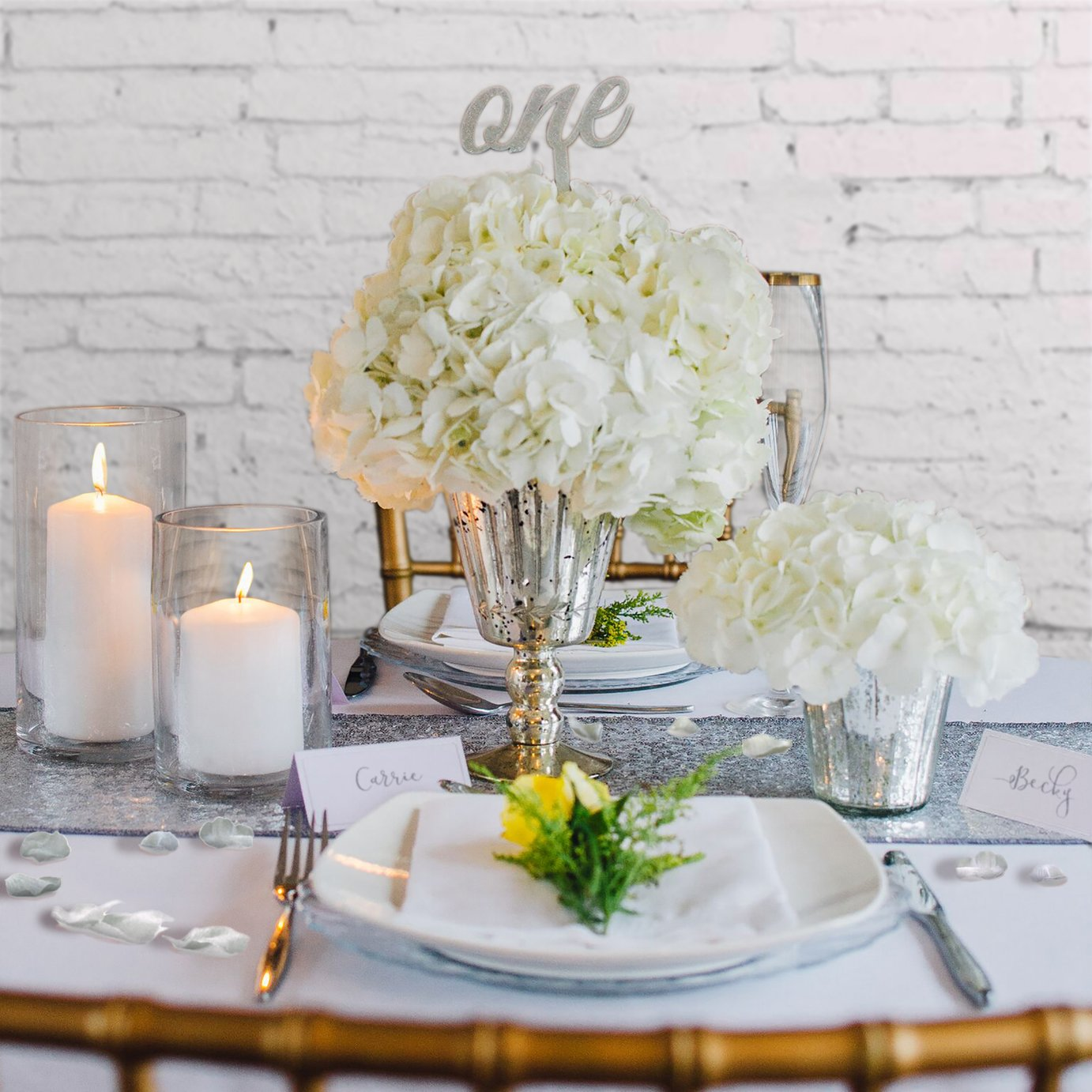 White Elegance Luxury Wedding Centerpiece Set