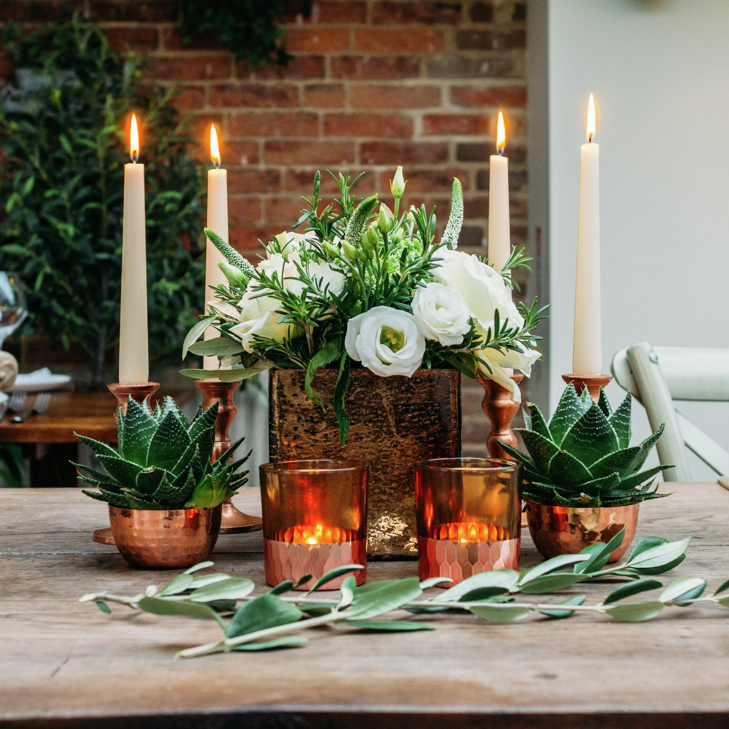 Image of Urban Coppers Luxury Wedding Table Centerpiece Set