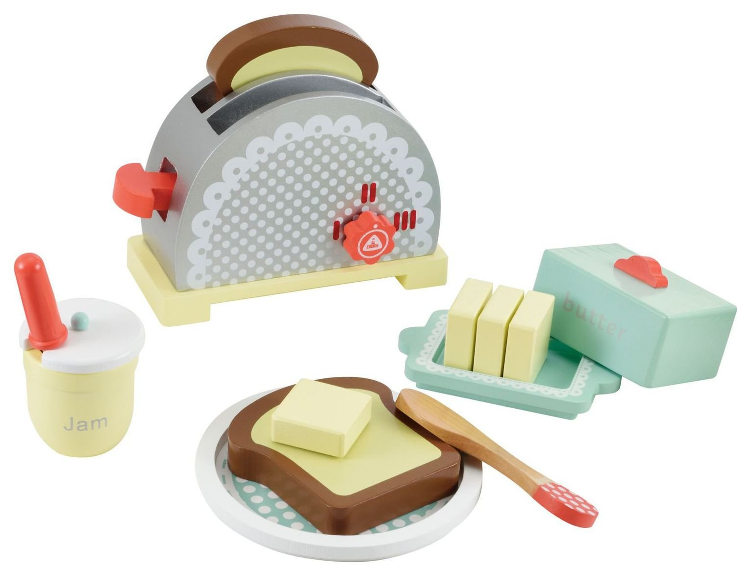 Image of ELC Wooden Toaster Set.