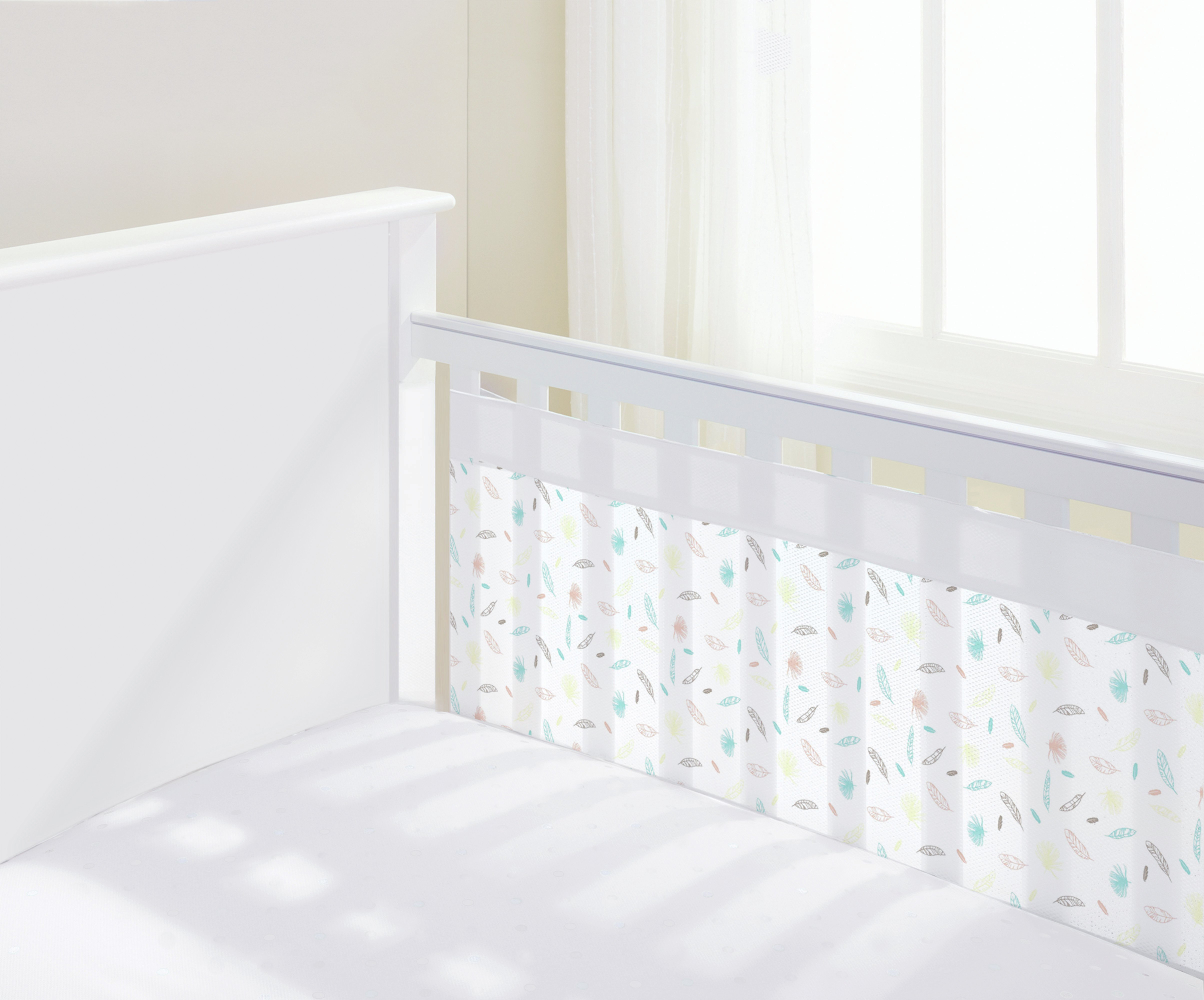 BreathableBaby Marabou Mesh Cot Liner - 2 Sided