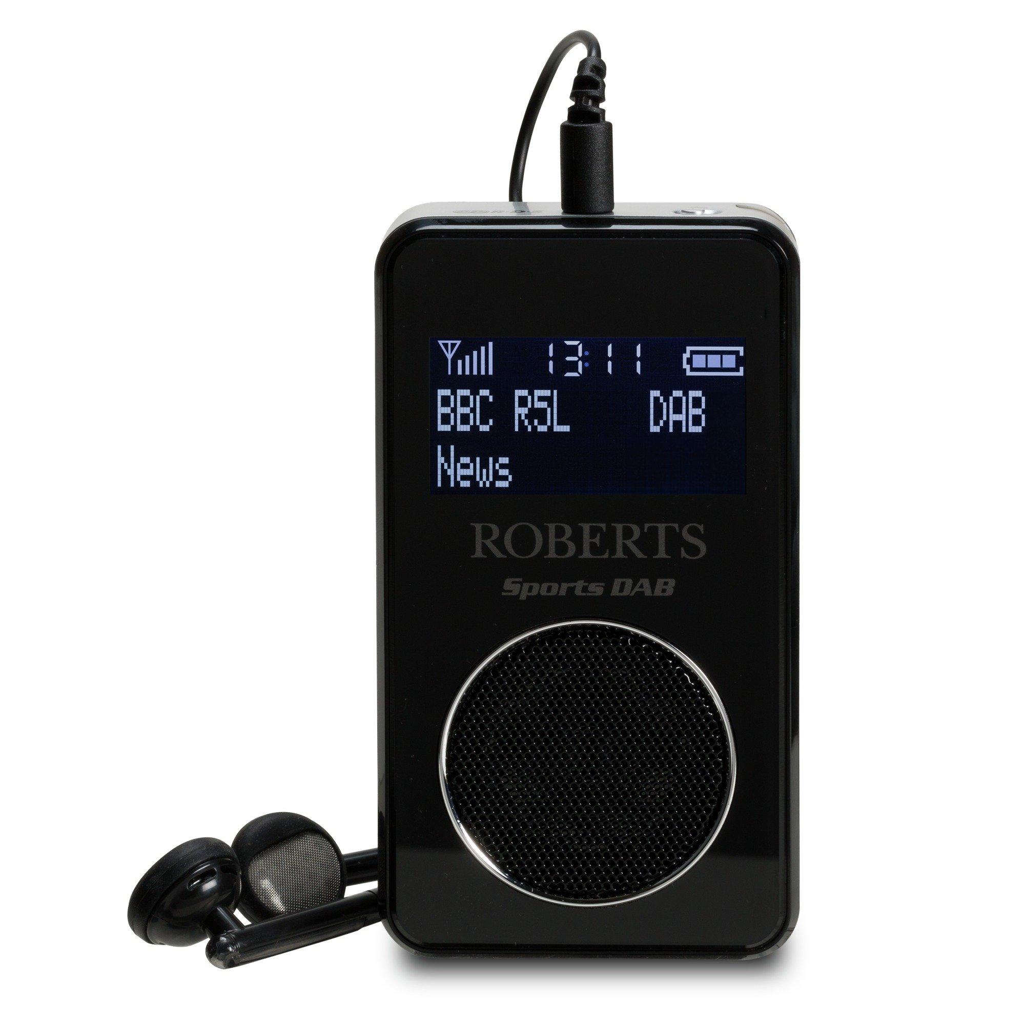 Roberts SportsDab6 FM/DAB/DAB+ Sports Radio- Black