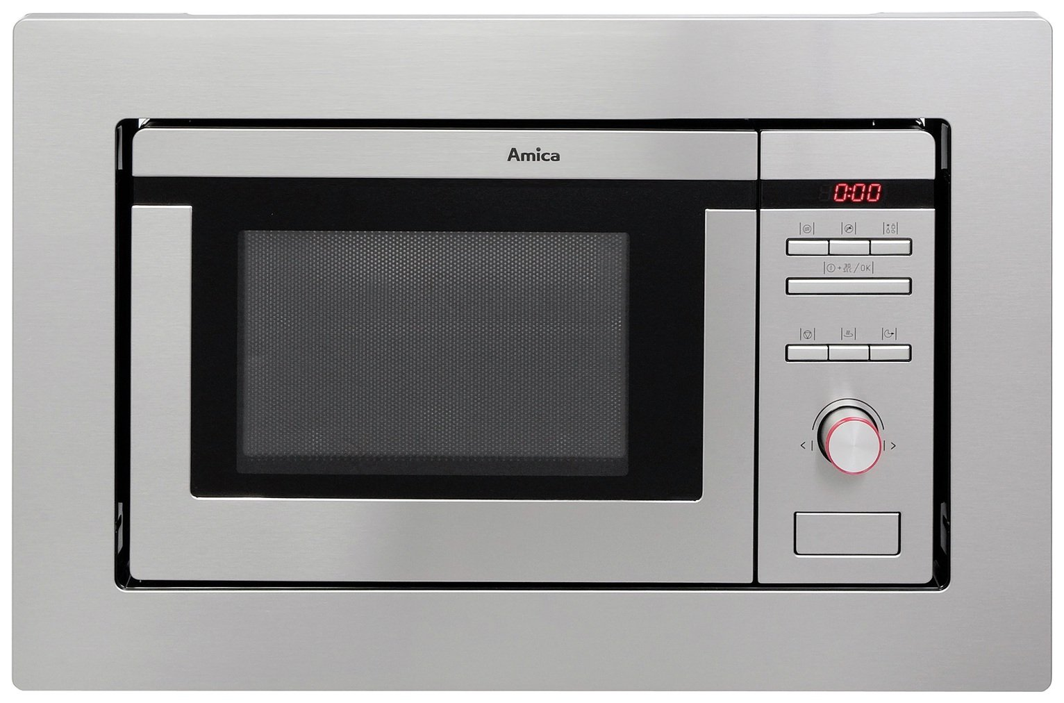 Amica AMM20G1BI 800W Built In Microwave - Stainless Steel