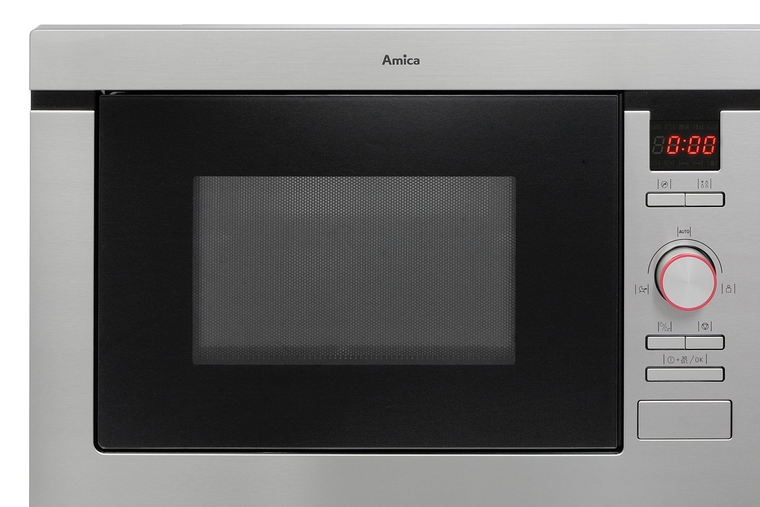 Amica AMM25BI 1000W Built-In Microwave - Stainless Steel.