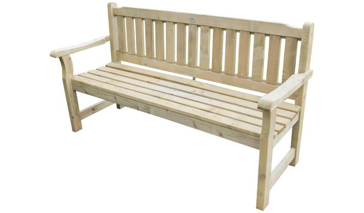 Buy Forest Rosedene Wooden 3 Seater Garden Bench Garden