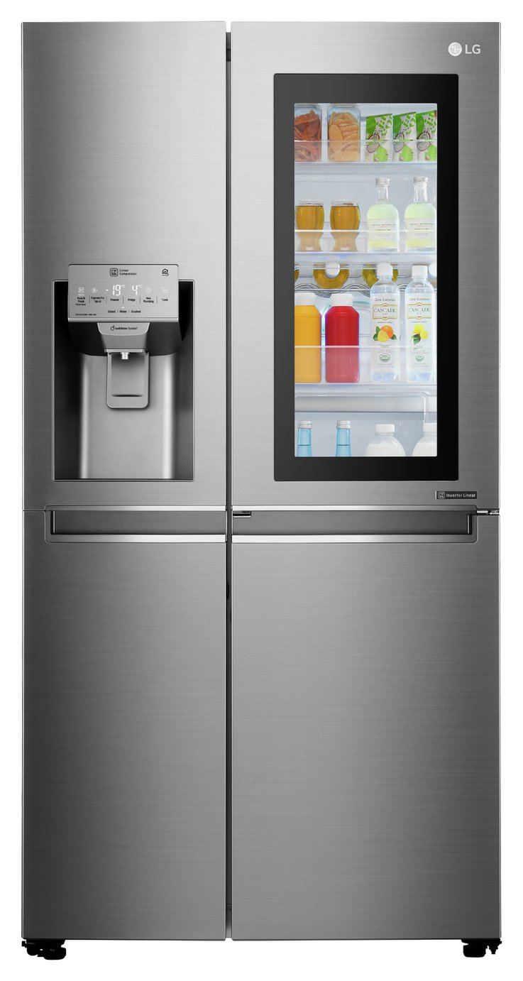 LG GSX961NSAZ InstaView Side By Side Fridge Freezer Best Price, Cheapest Prices
