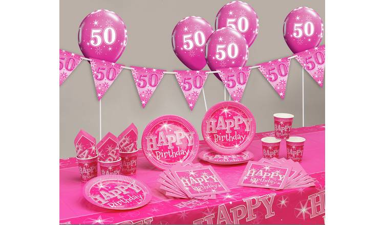 Pink Sparkle 50th Birthday Party Pack743 1452