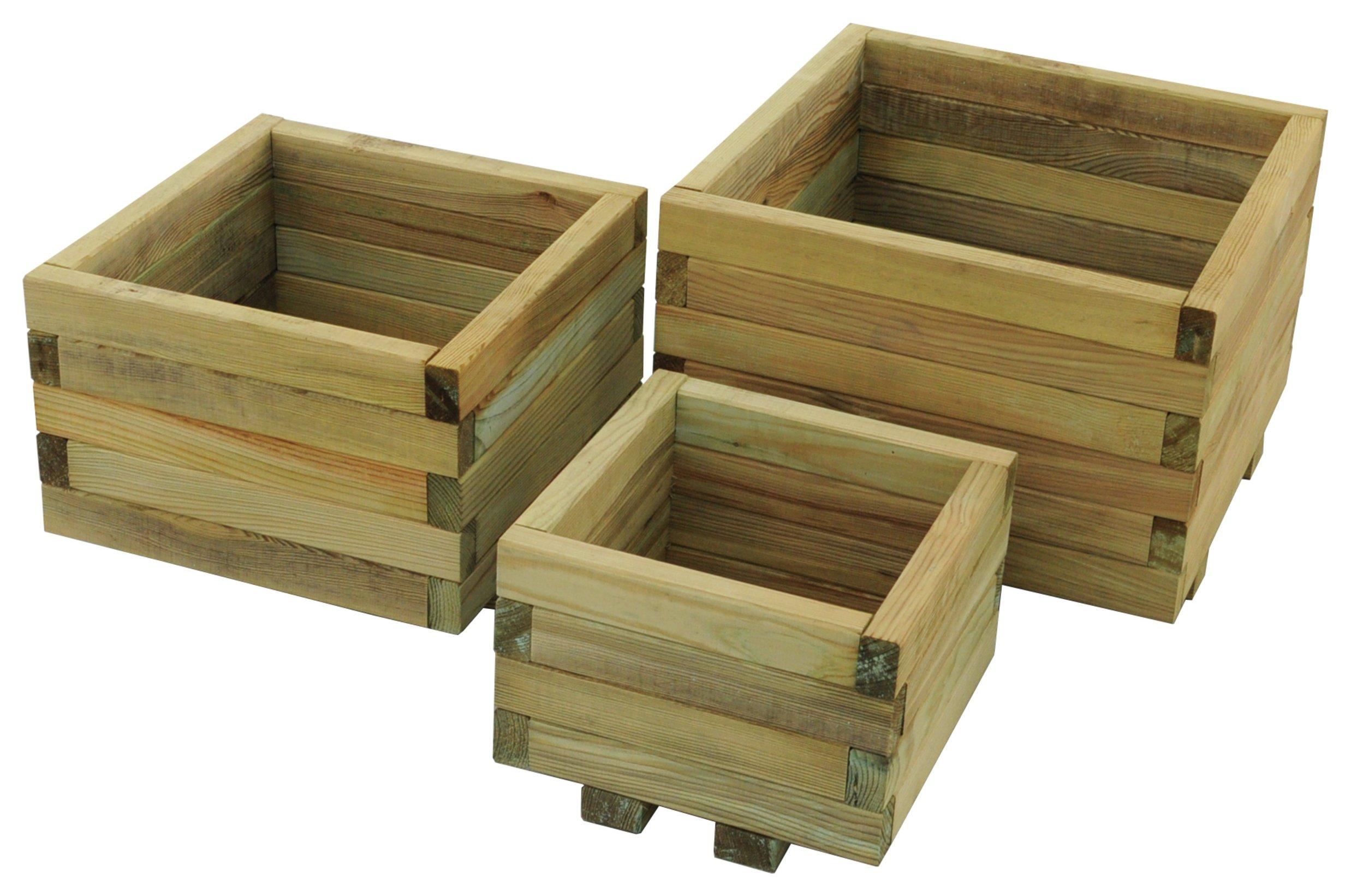 Image of Forest Kendal Sqaure Planter - Set of 3