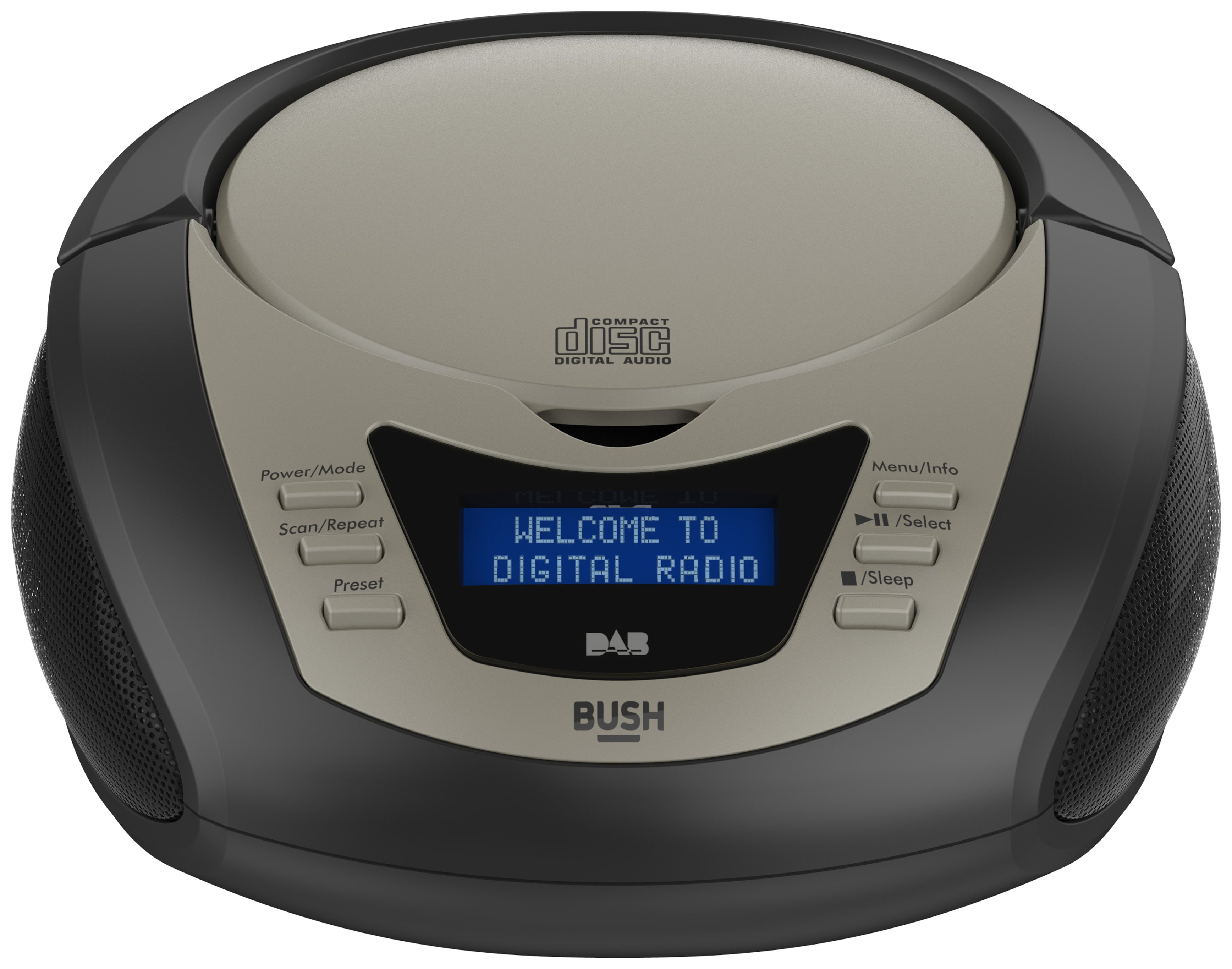 Bush DAB Boombox with CD Player - Black