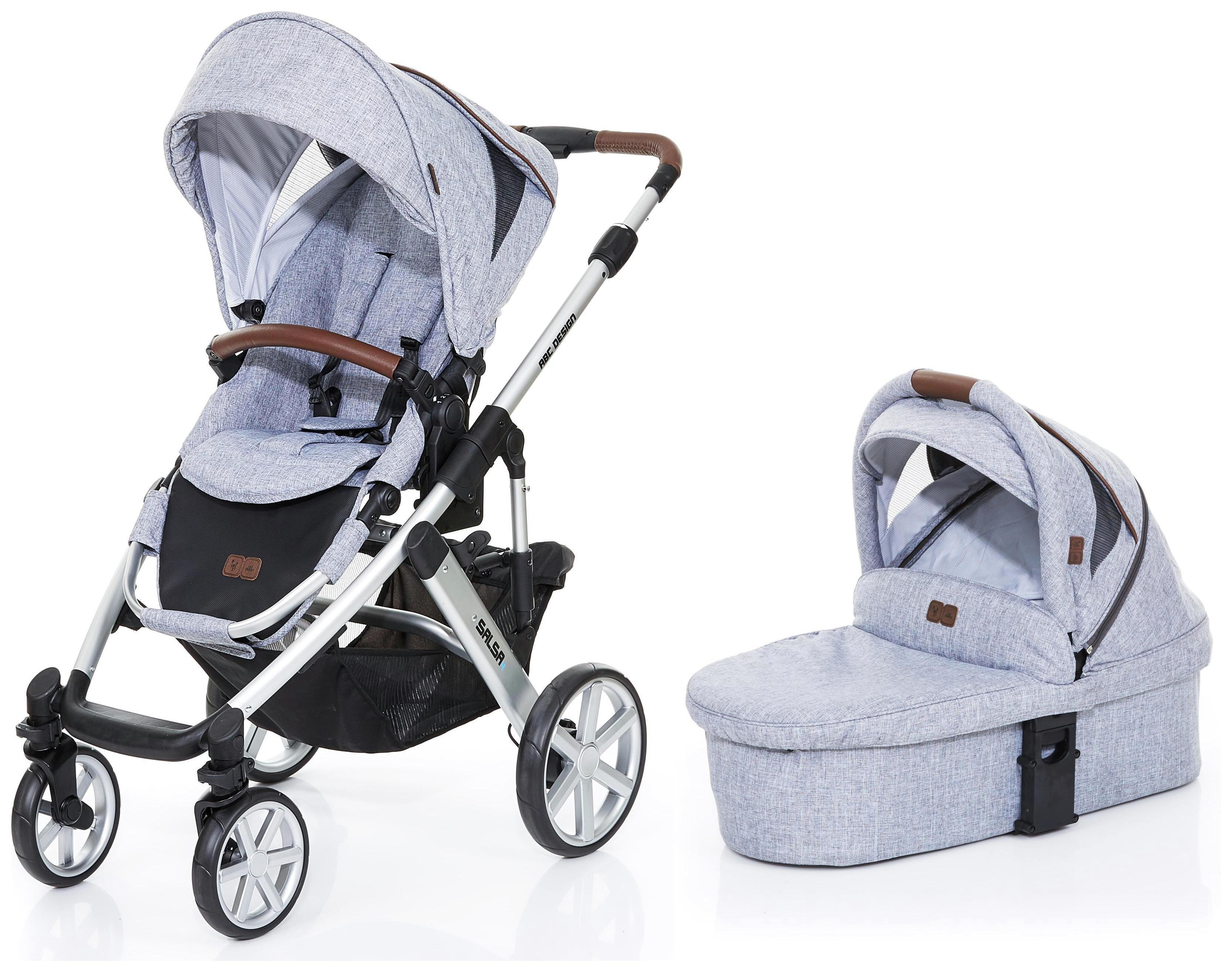 Image of ABC Design Salsa 2 in 1 Stroller & Carrycot - Graphite Grey