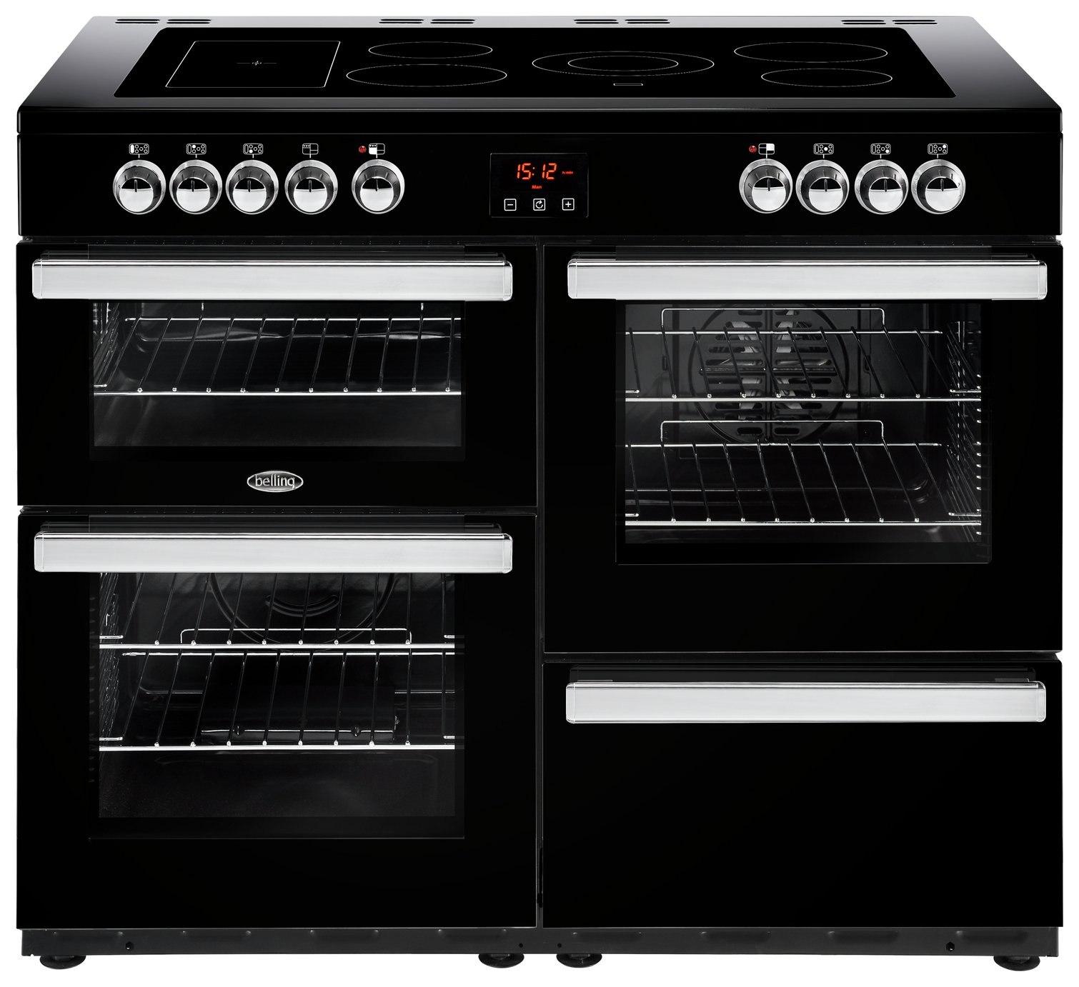 Belling Cookcentre 110E Electric Range Cooker - Black