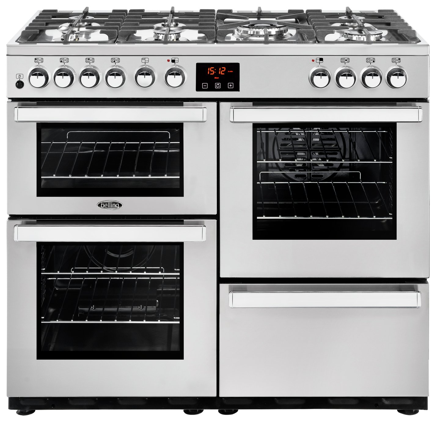 Image of Belling Cookcentre 100DFT Duel Fuel Range Cooker - S/Steel