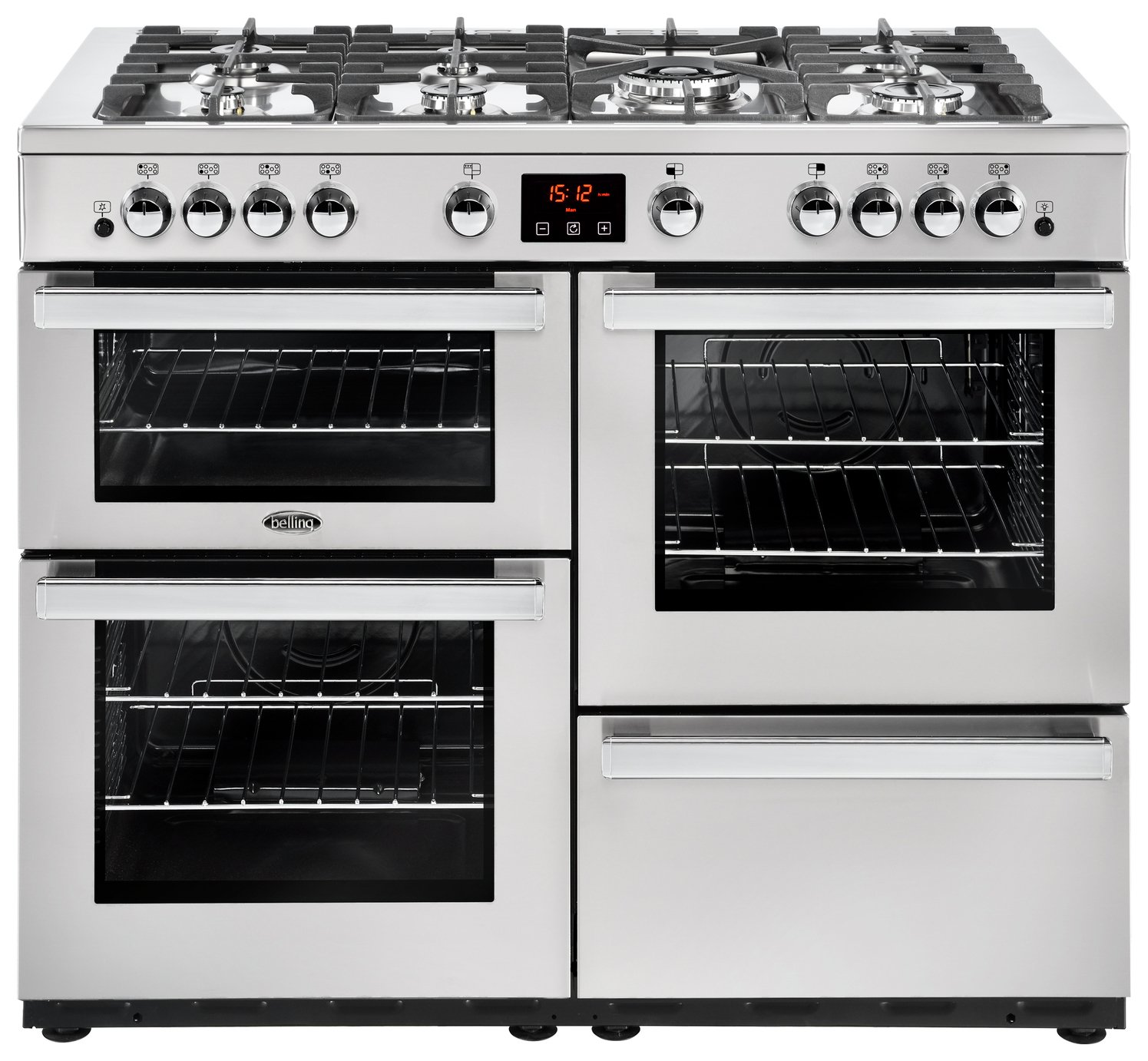 Belling Cookcentre 110G 110cm Gas Range Cooker - S/ Steel