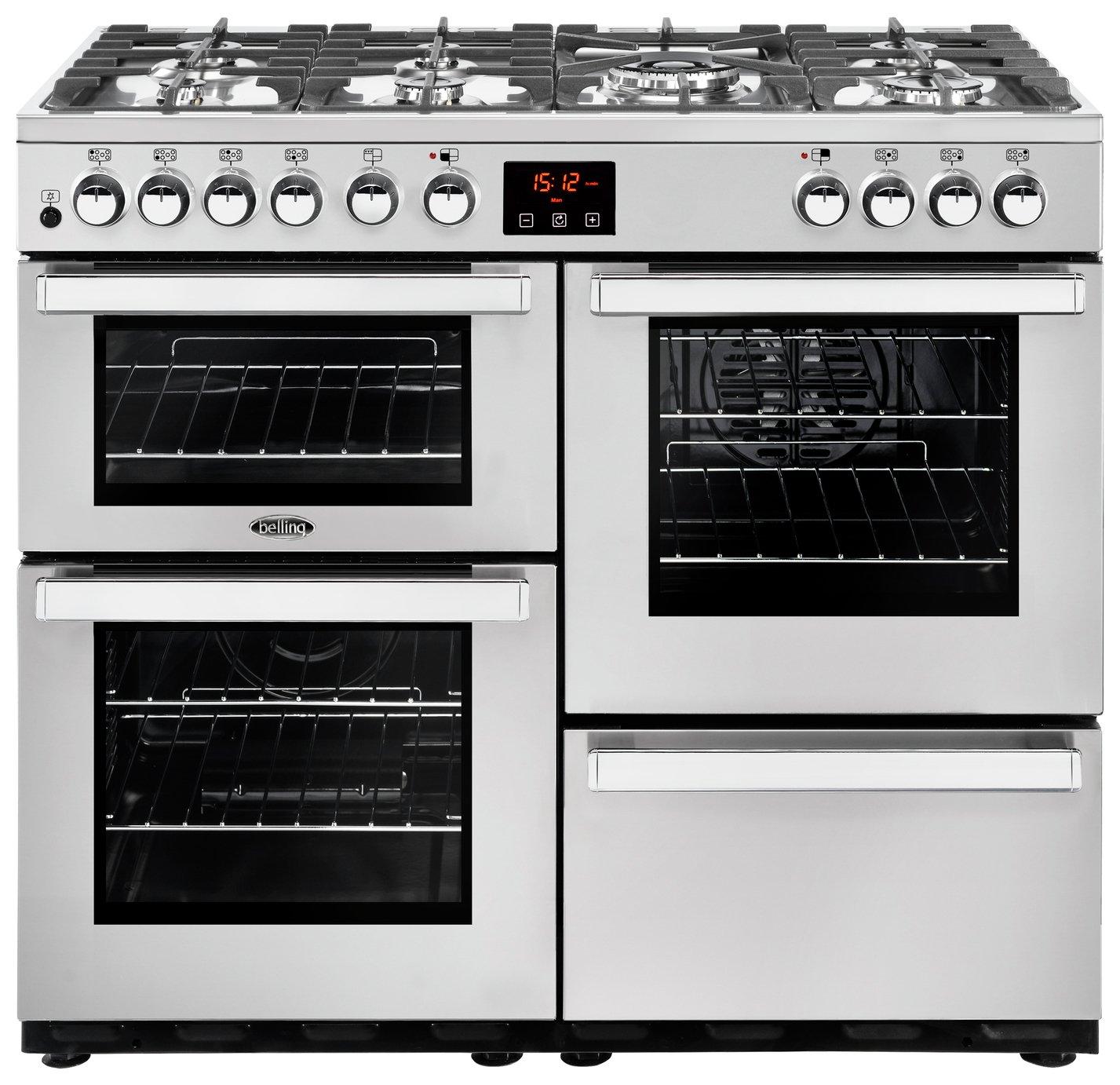 Image of Belling Cookcentre 100DFT Duel Fuel Range Cooker - S/Steel & Installation