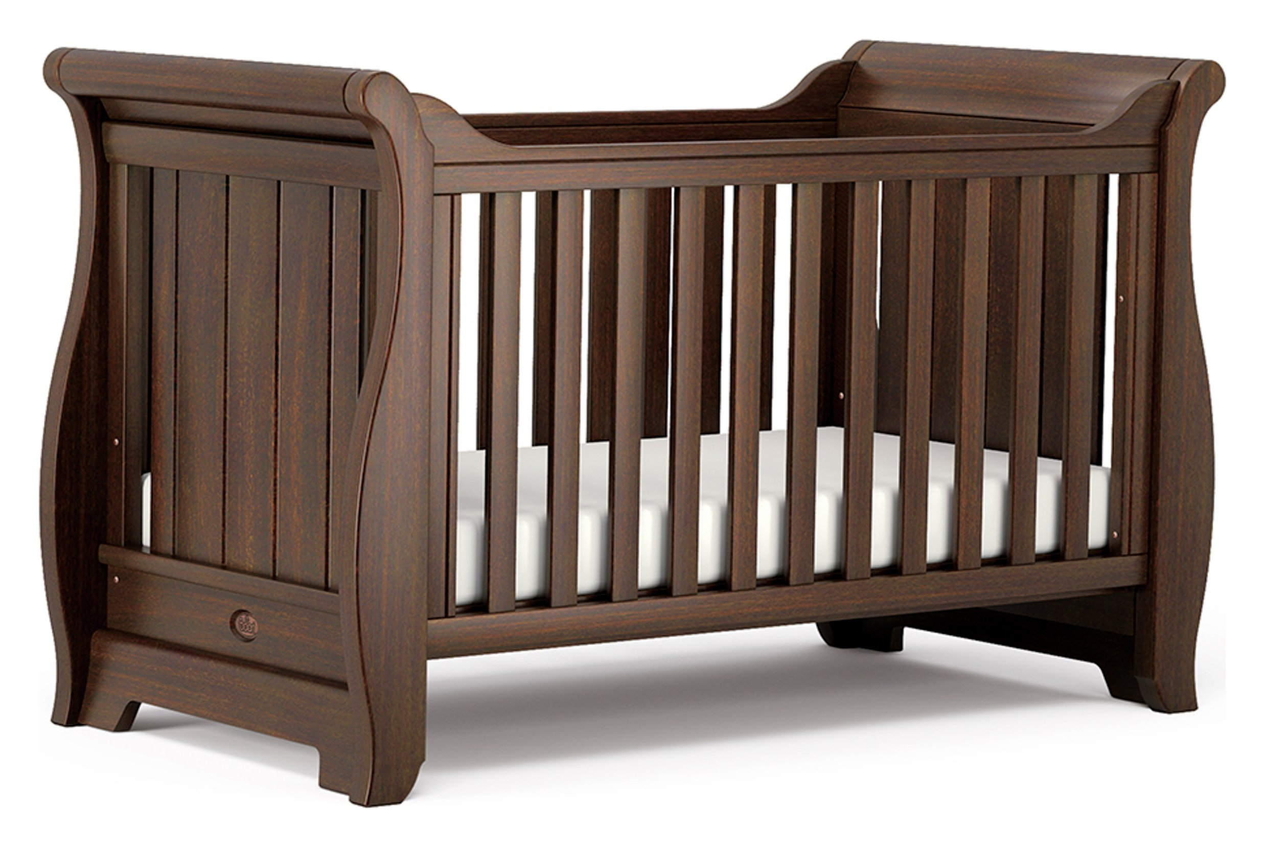 Sleigh Cot Bed - English Oak