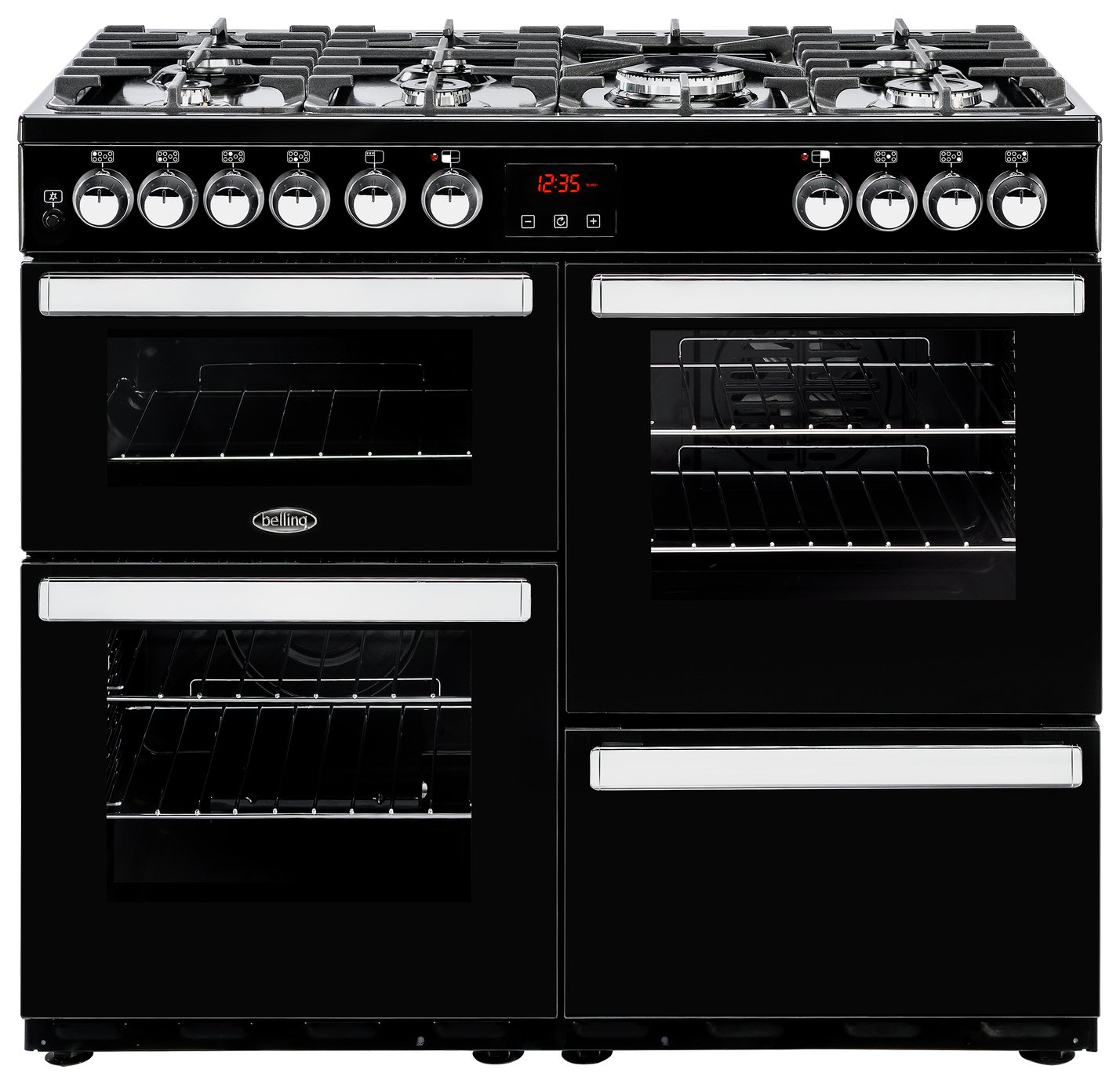 Belling Cookcentre 100DFT Duel Fuel Range Cooker - Black
