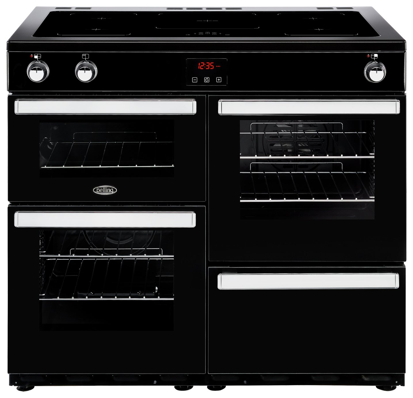 Belling Cookcentre 100EI Electric Range Cooker - Black