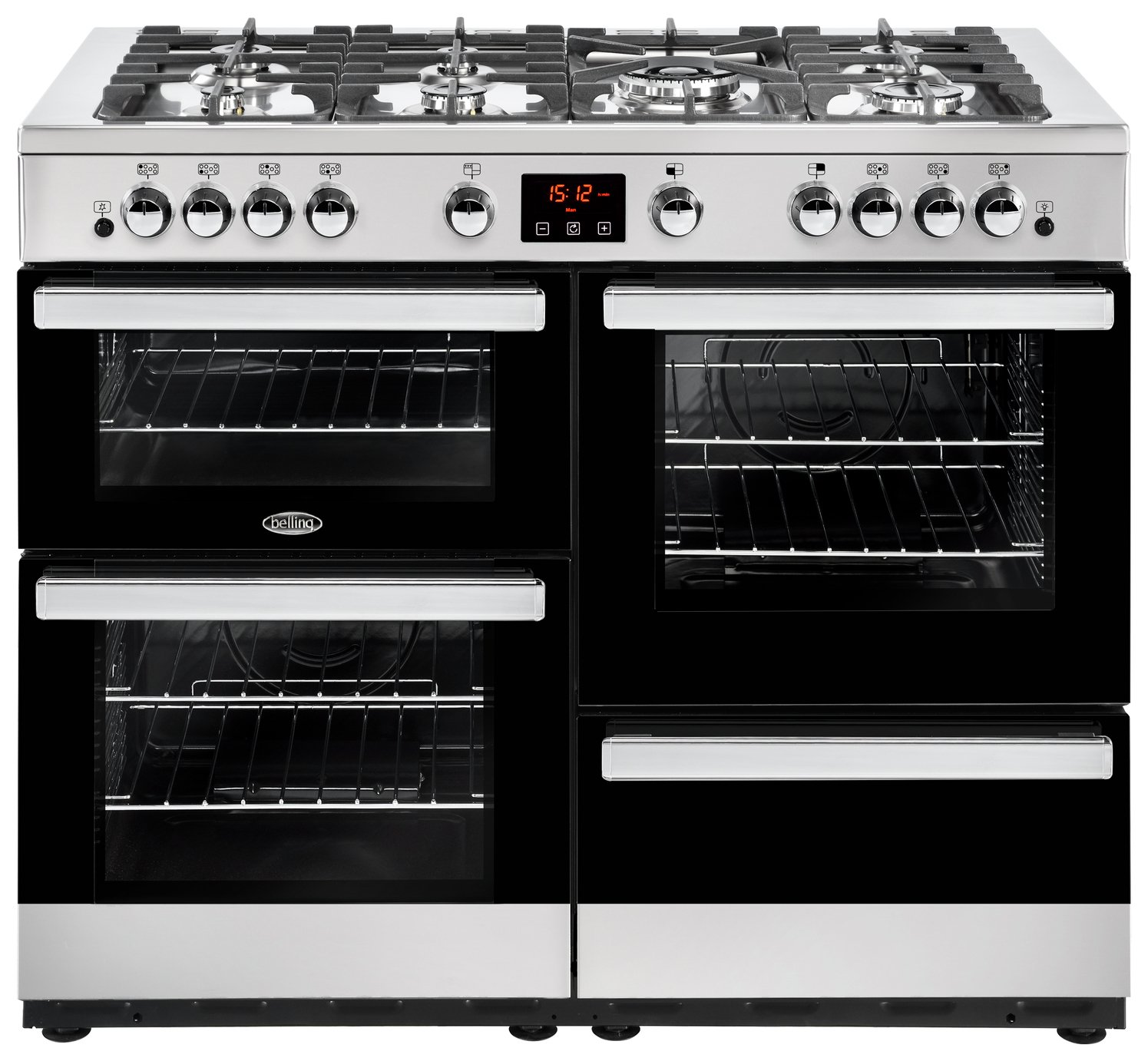 Image of Belling Cookcentre 110G Gas Range Cooker - Stainless Steel