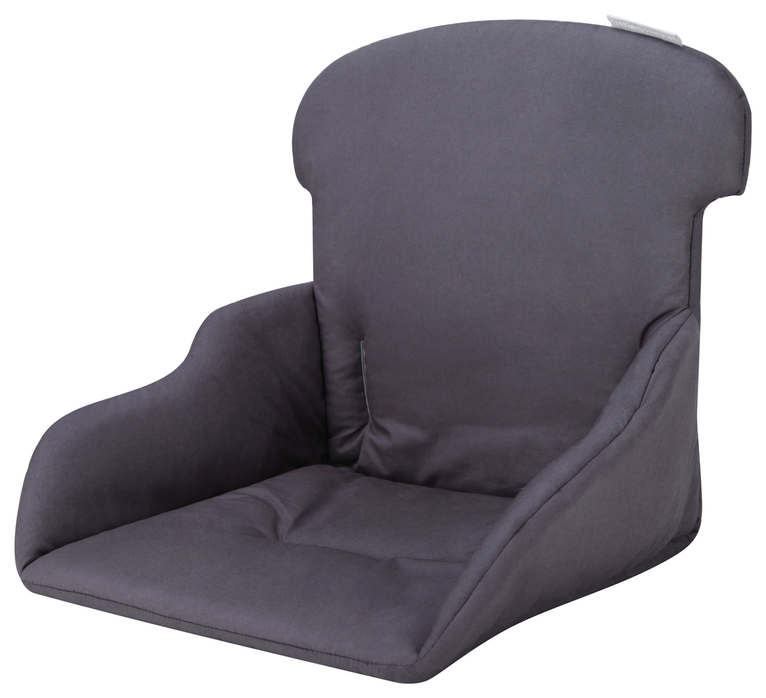 Image of Little Helper FunPod High Chair Cushion - Charcoal